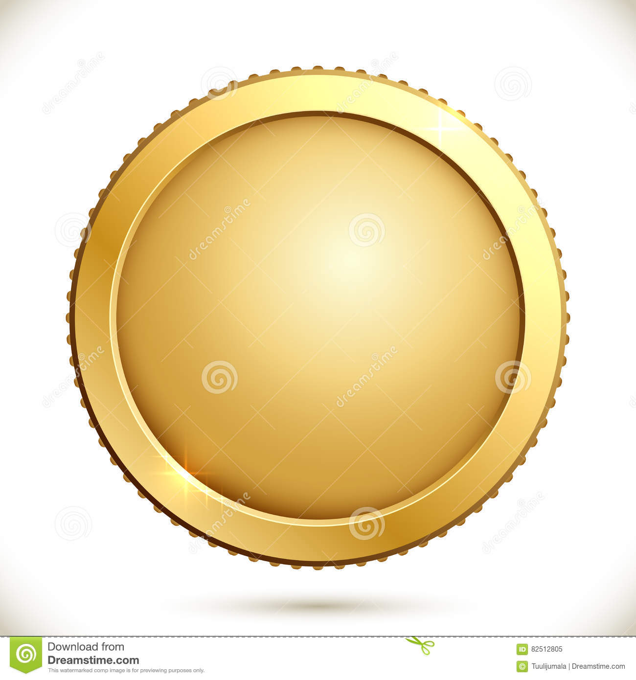 Shiny gold coin