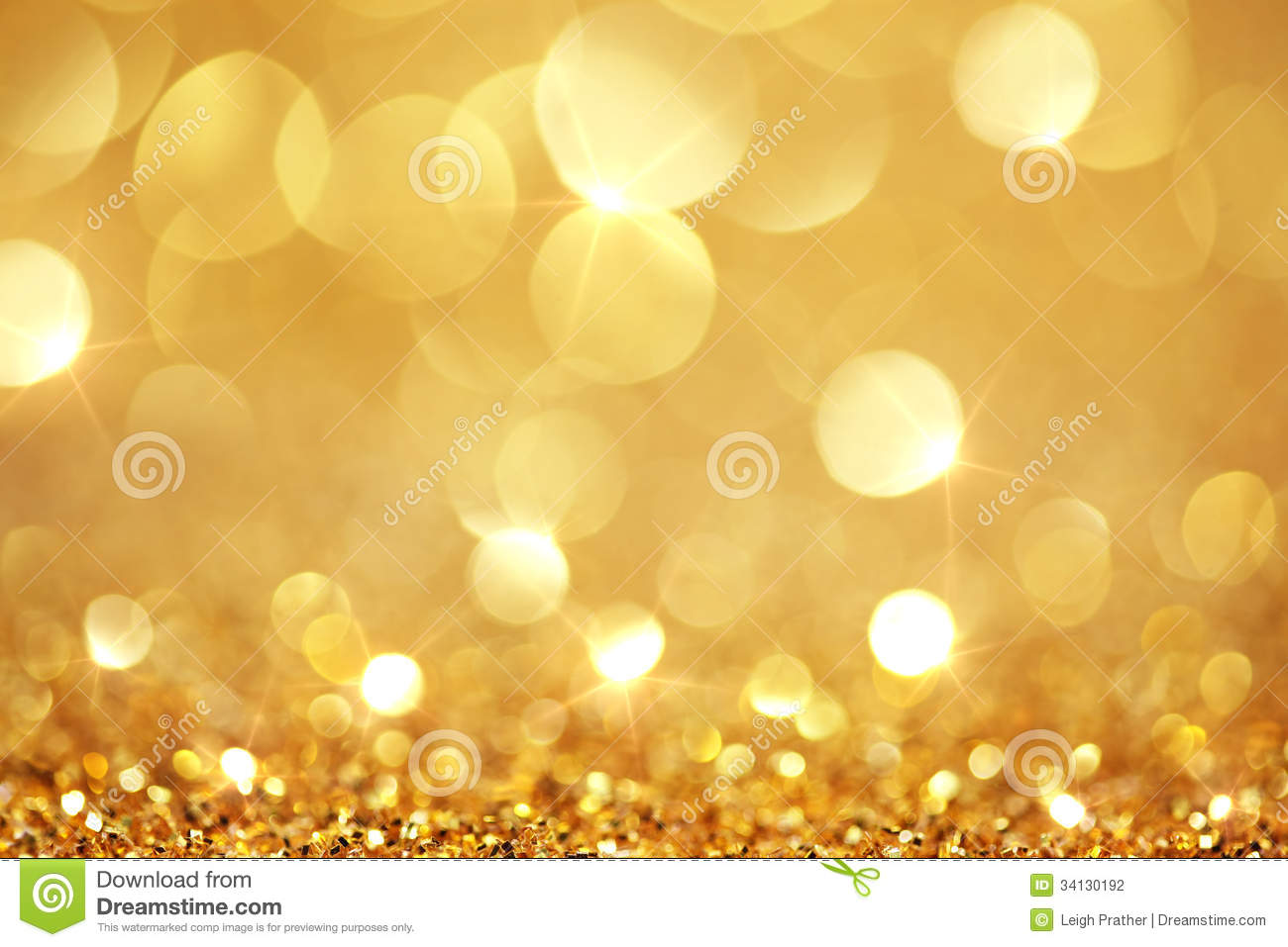 Shiny Golden Lights Stock Photography Image 34130192