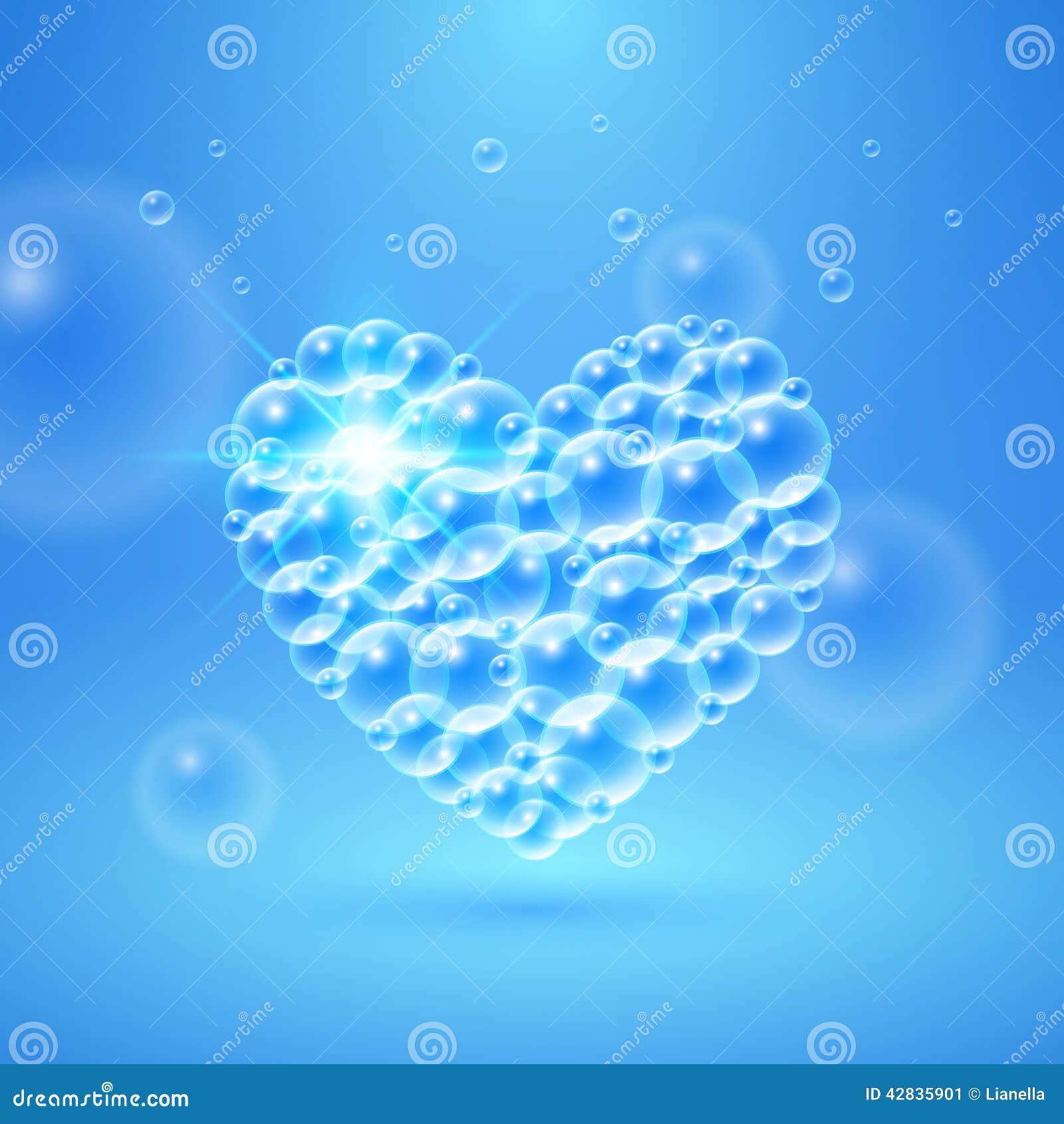 Shiny Heart Of Bubbles Stock Vector - Image: 42835901