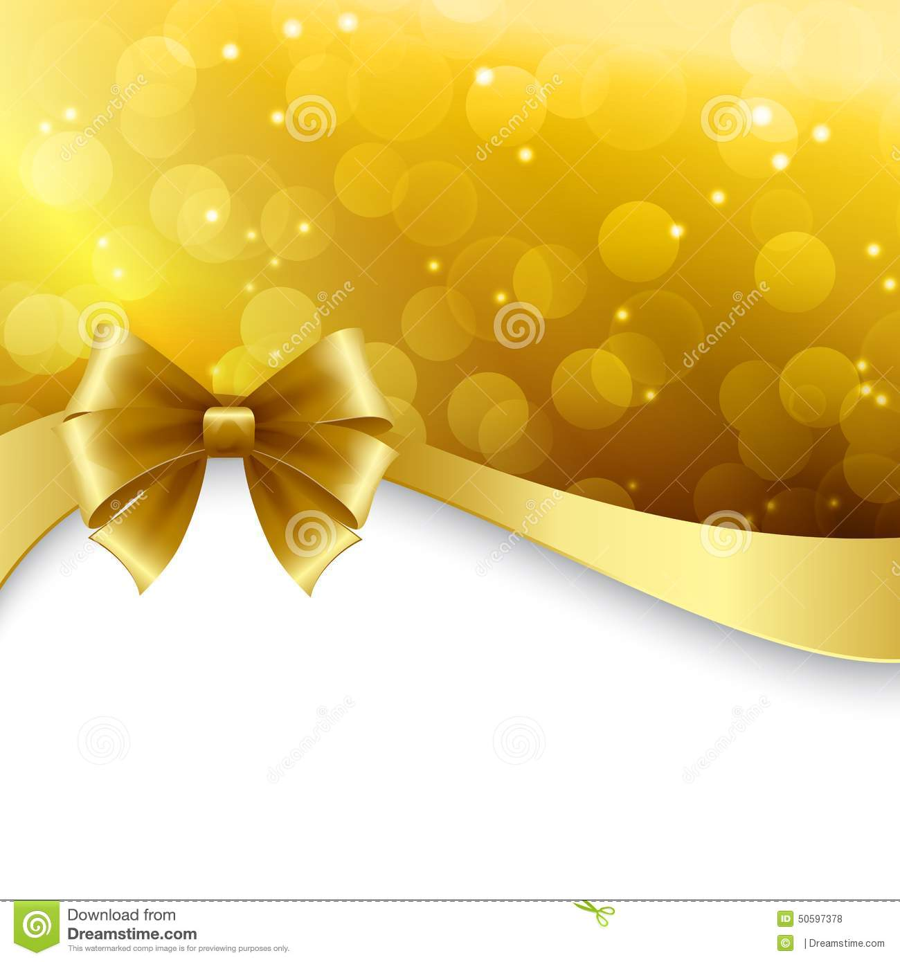 shiny holiday background with gold bow  christmas stock