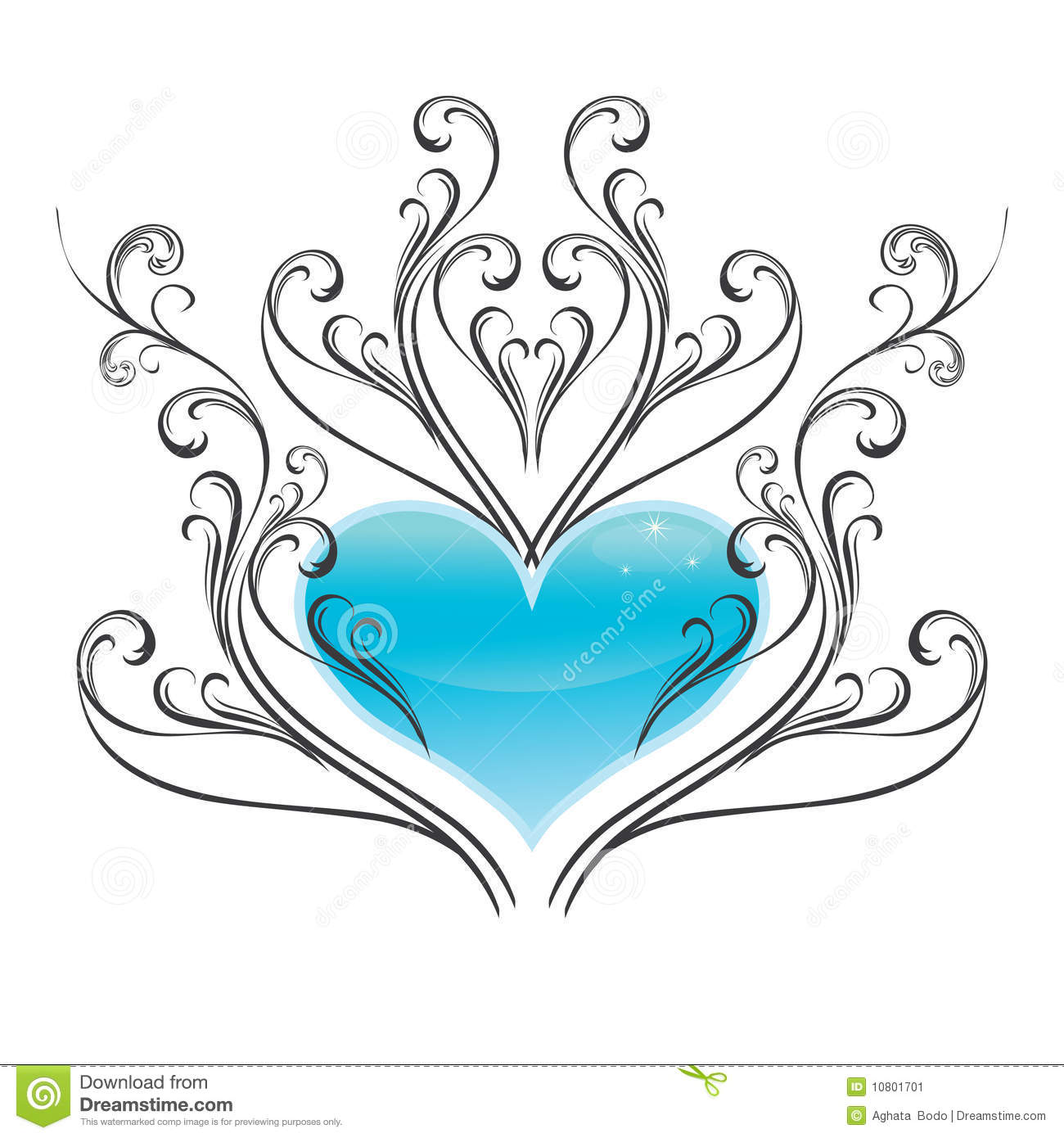 shiny ice heart with winter style ornament royalty free stock photo 10801701. Black Bedroom Furniture Sets. Home Design Ideas
