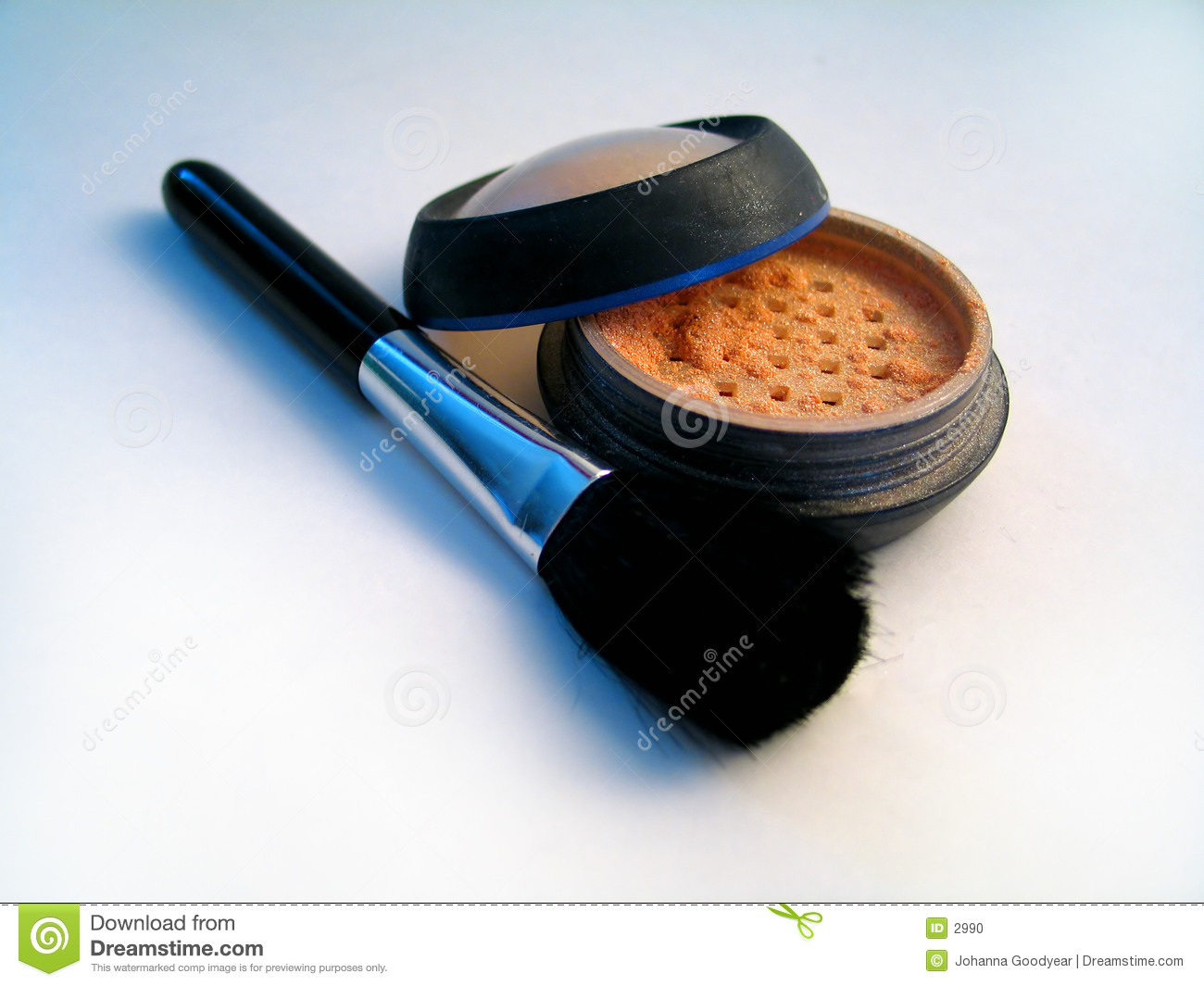 Shiny Makeup Powder II with Brush