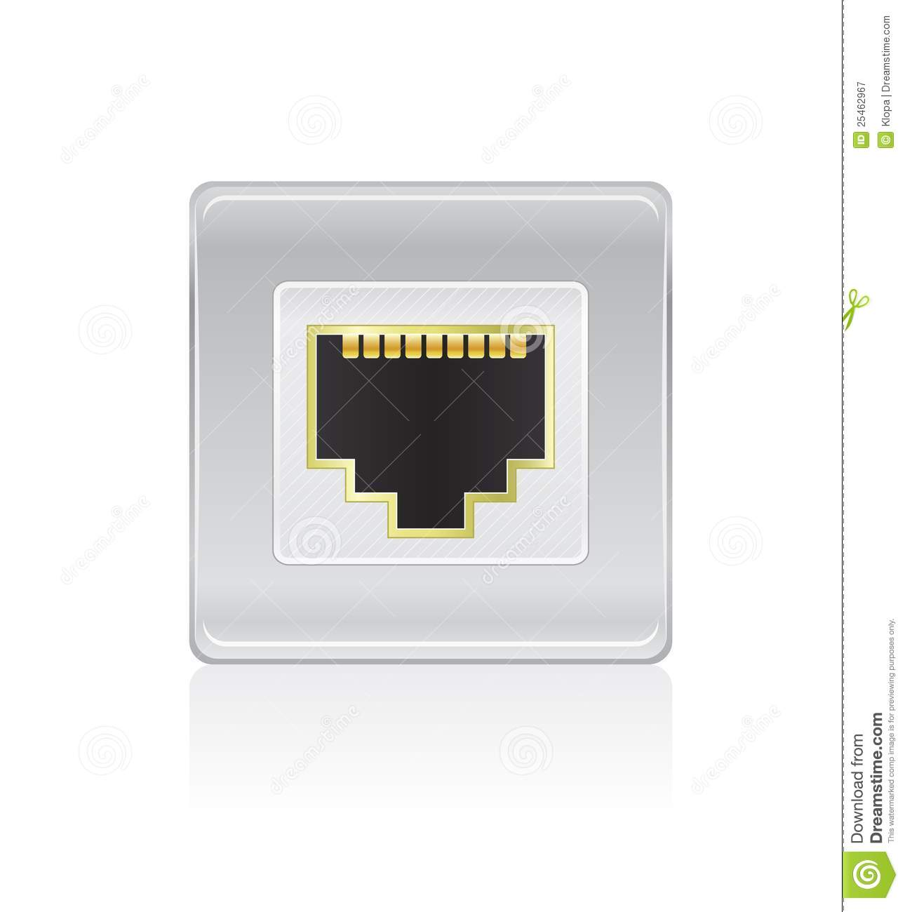 Shiny Network Port Icon Royalty Free Stock Photography - Image ...