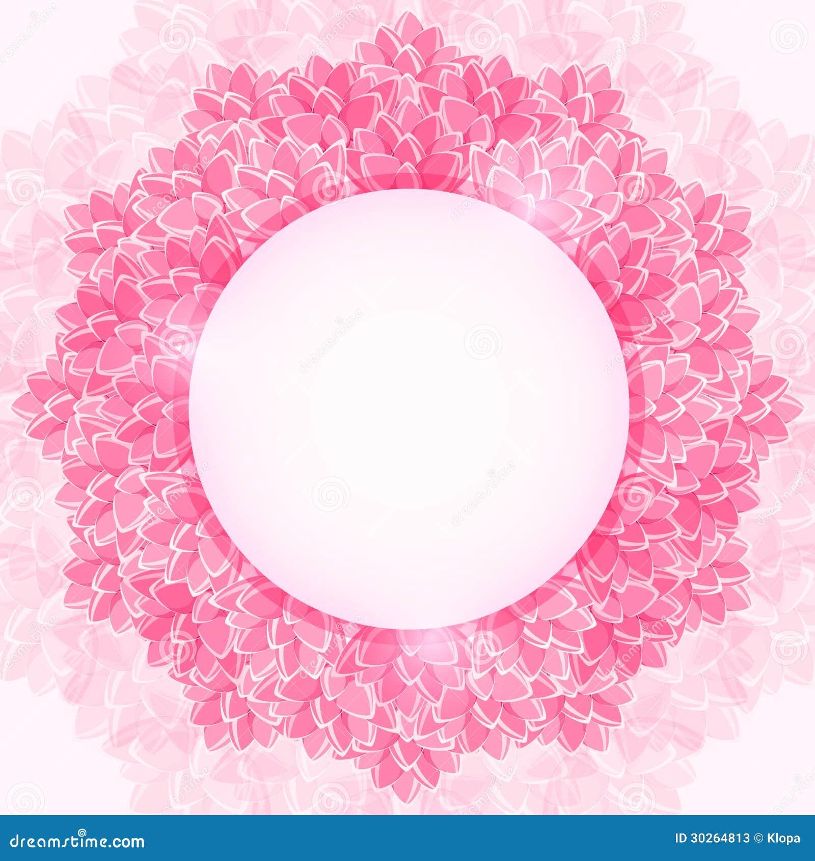 Pink Flower Frames