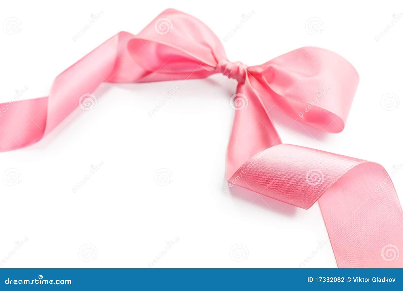 Shiny Pink Satin Holiday Ribbon And Bow Stock Photo - Image of gift ... 8b002ace32f