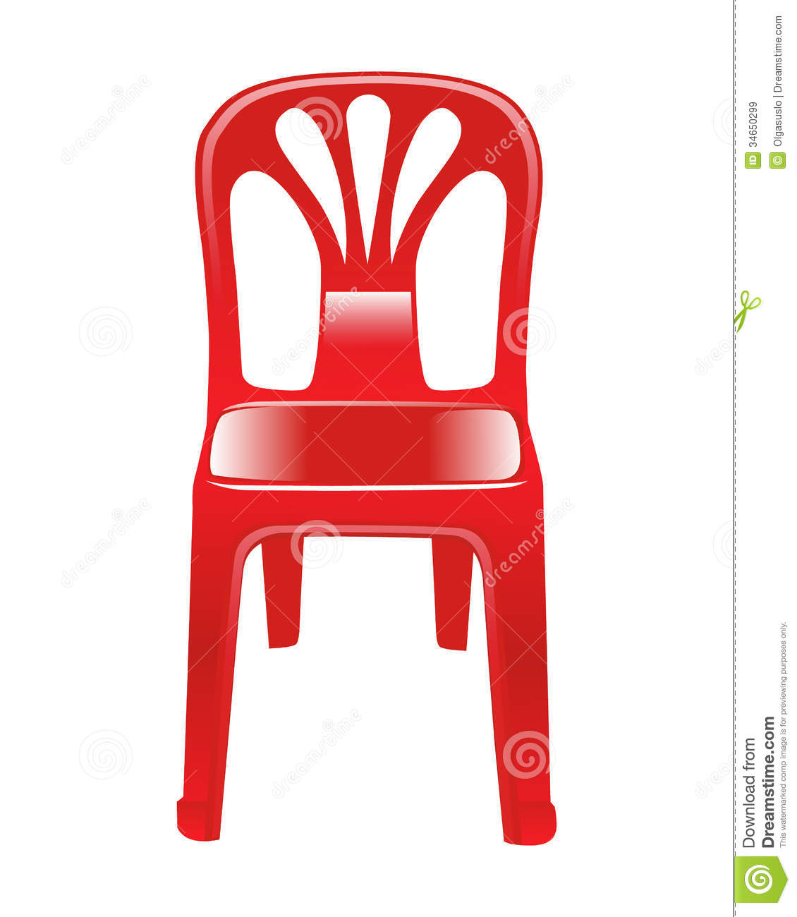 Shiny Red Chair Stock Vector Image Of Furniture Chair