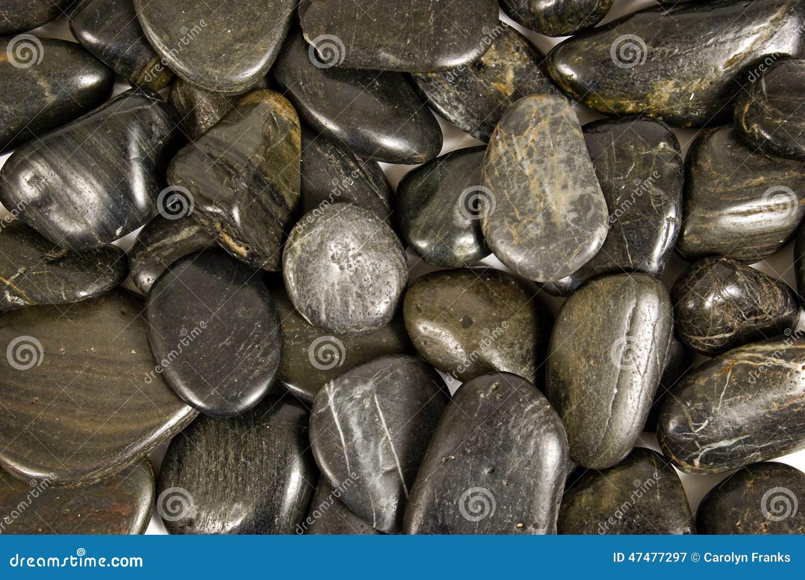 Shiny river rocks or stone background stock photo image for Shiny black granite rocks