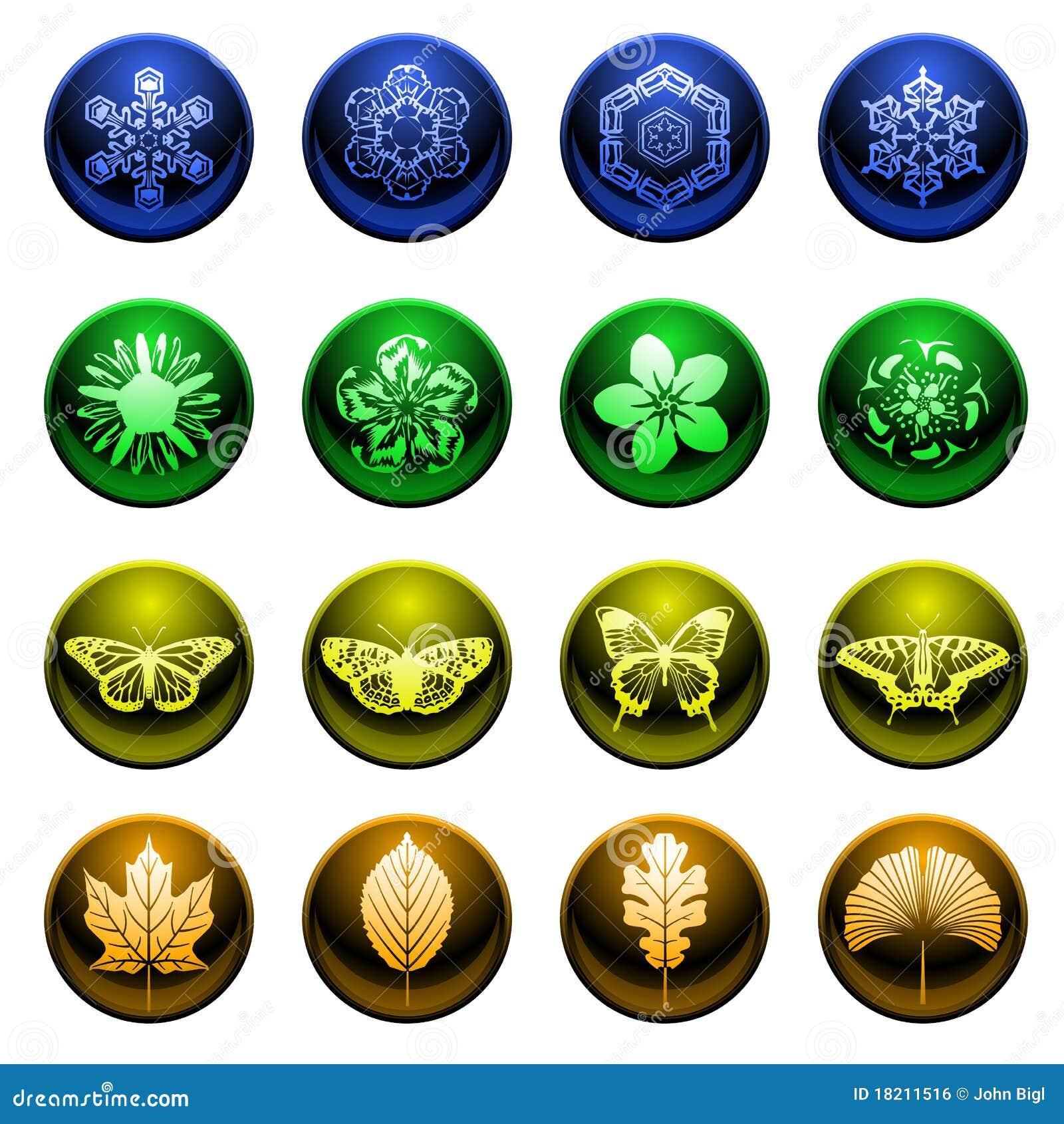 Shiny season icons