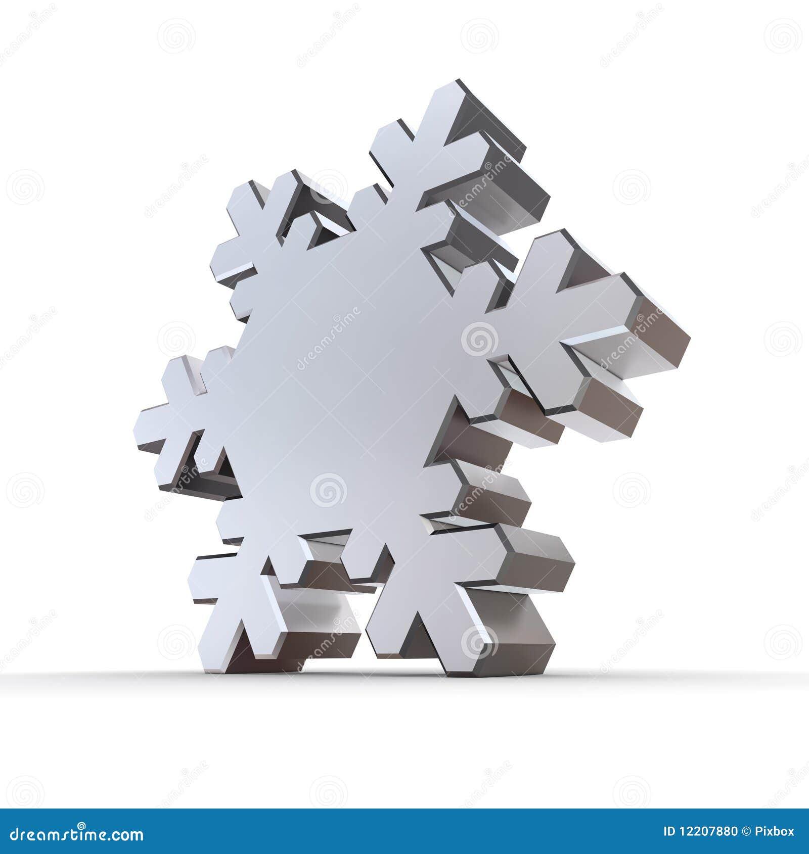Shiny silver chrome snowflake stock illustration illustration of royalty free stock photo buycottarizona Images