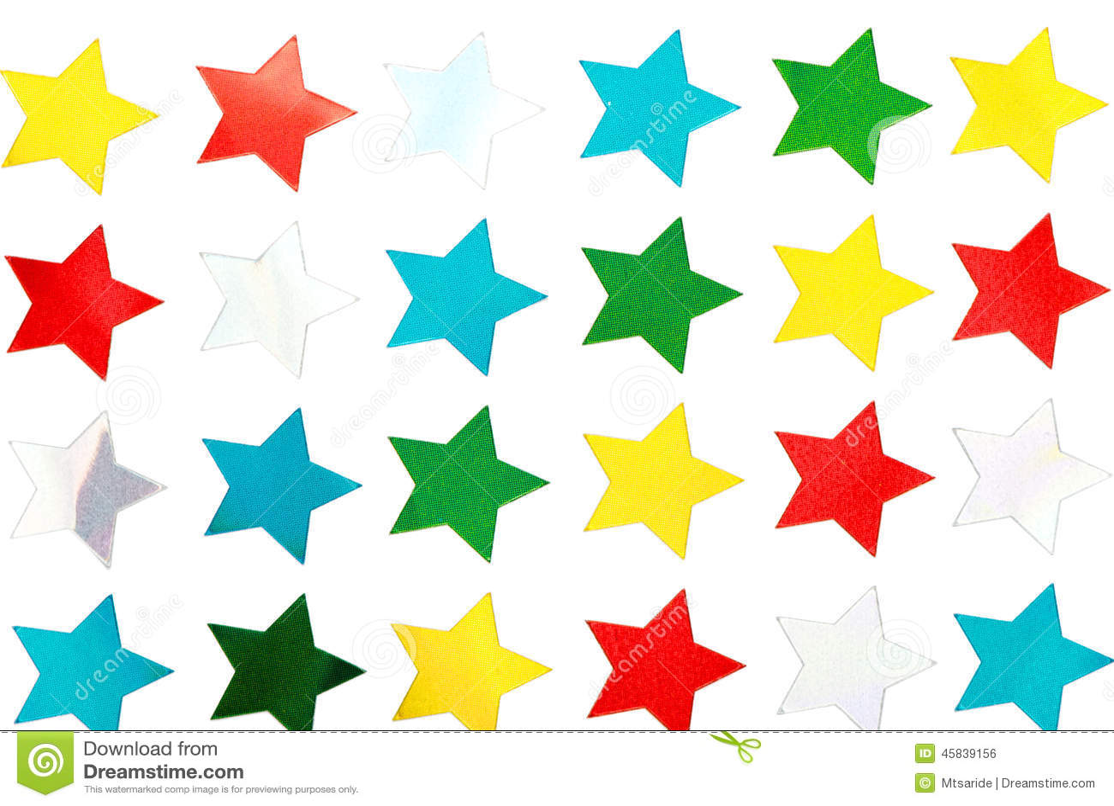 White star stickers