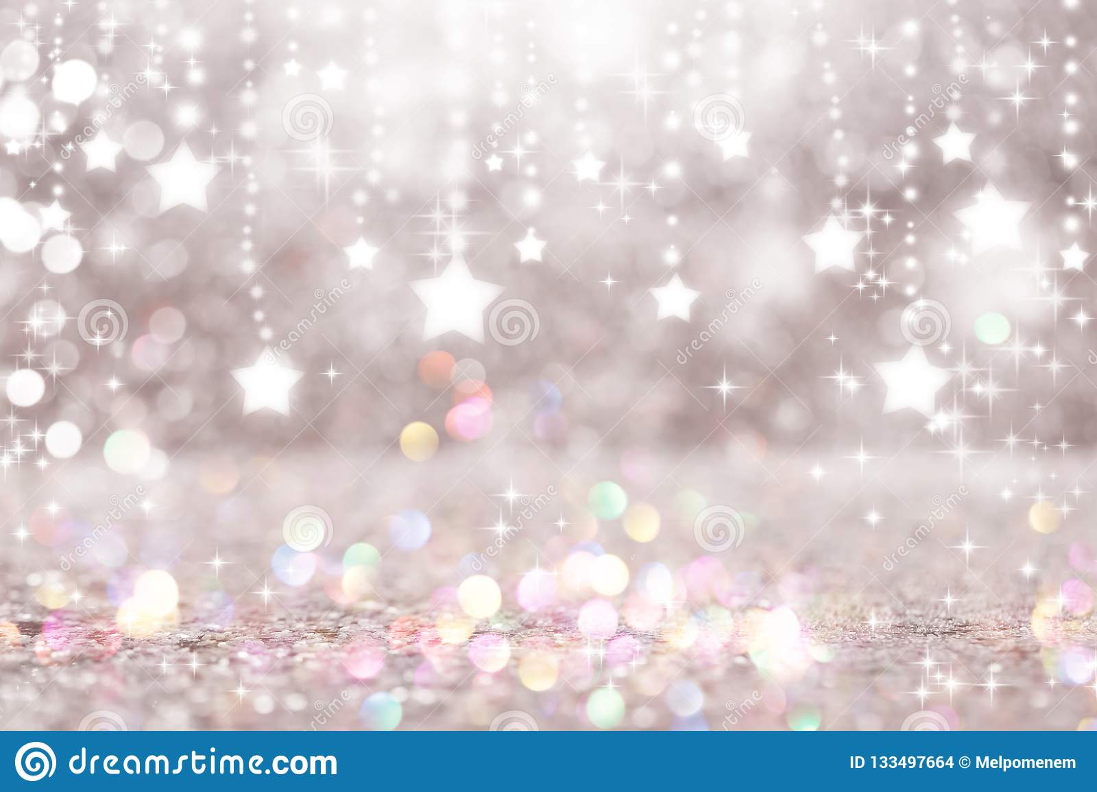 Shiny stars with abstract light background