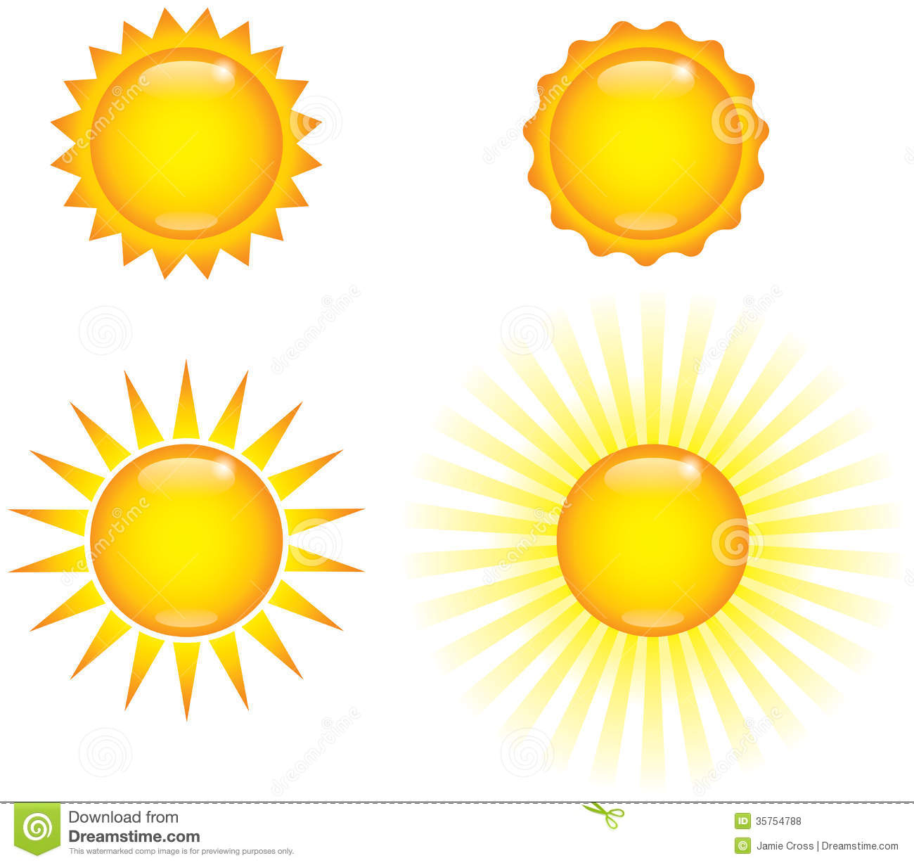 Shiny Suns Royalty Free Stock Photos - Image: 35754788