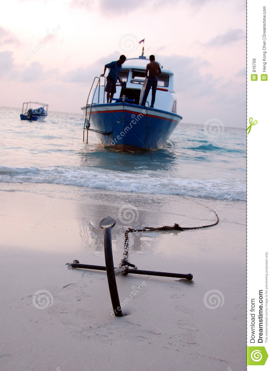Ship Anchor 2 Stock Image Image Of Beach Rope Firm