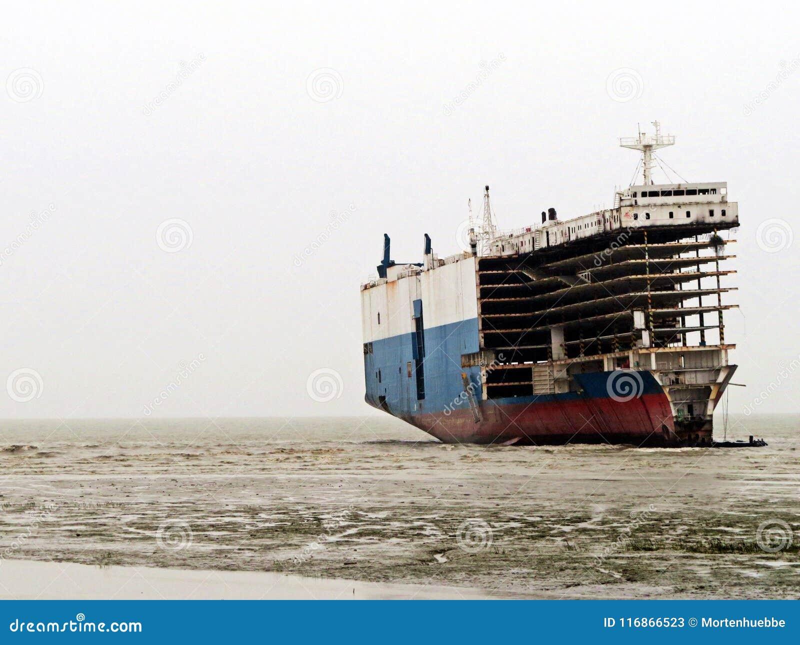 ship breaking yard chittagong stock image image of boat decay