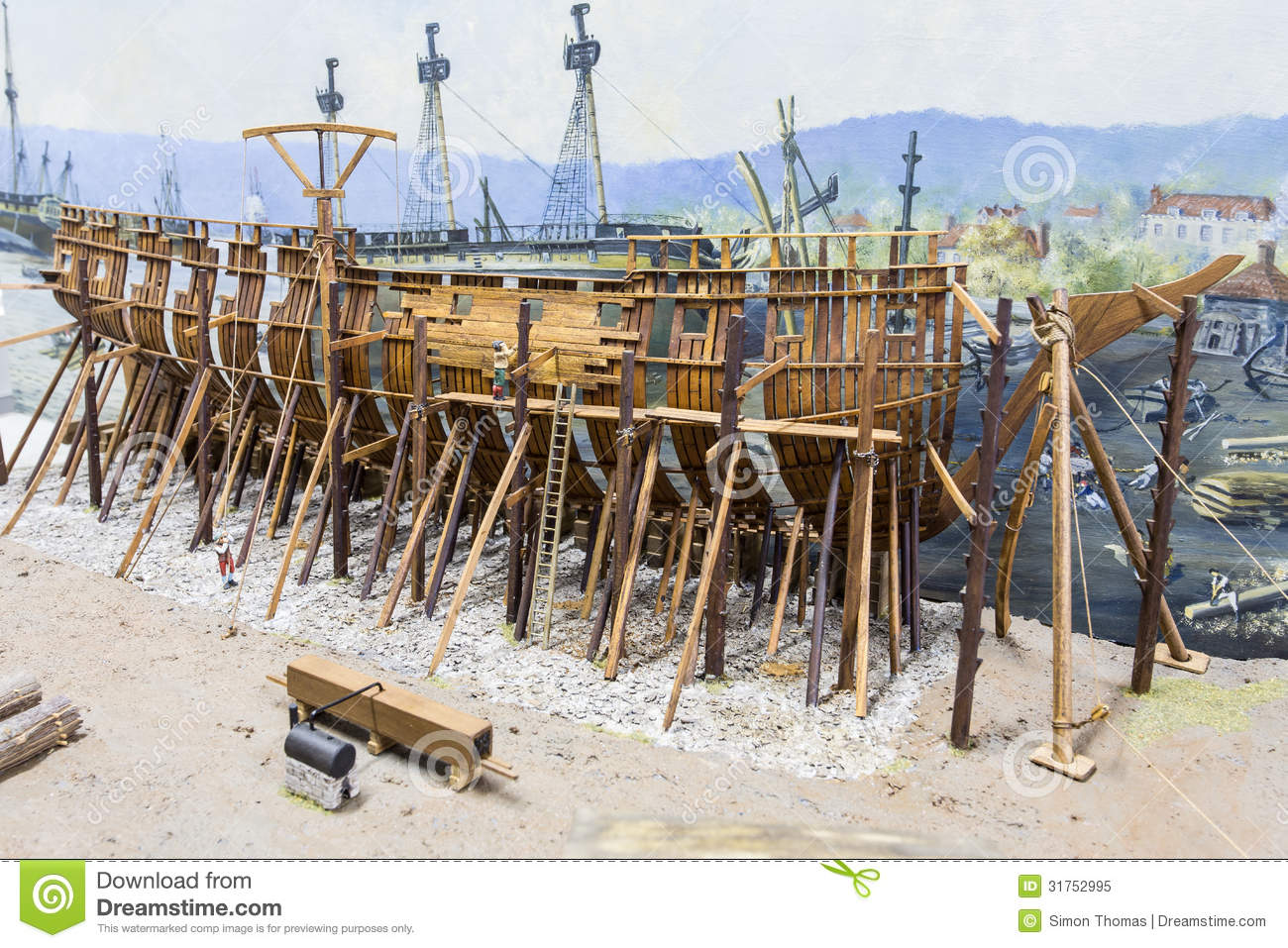 Ship Building Stock Image Of Scaffolding
