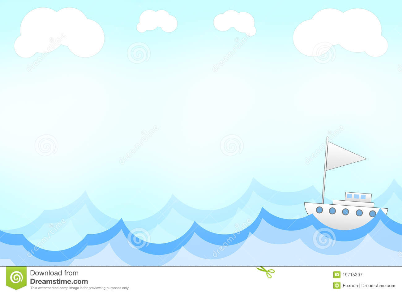 ship in cartoon style background royalty free stock Pirate Ship Silhouette Sailing Pirate Ship Silhouette Sailing