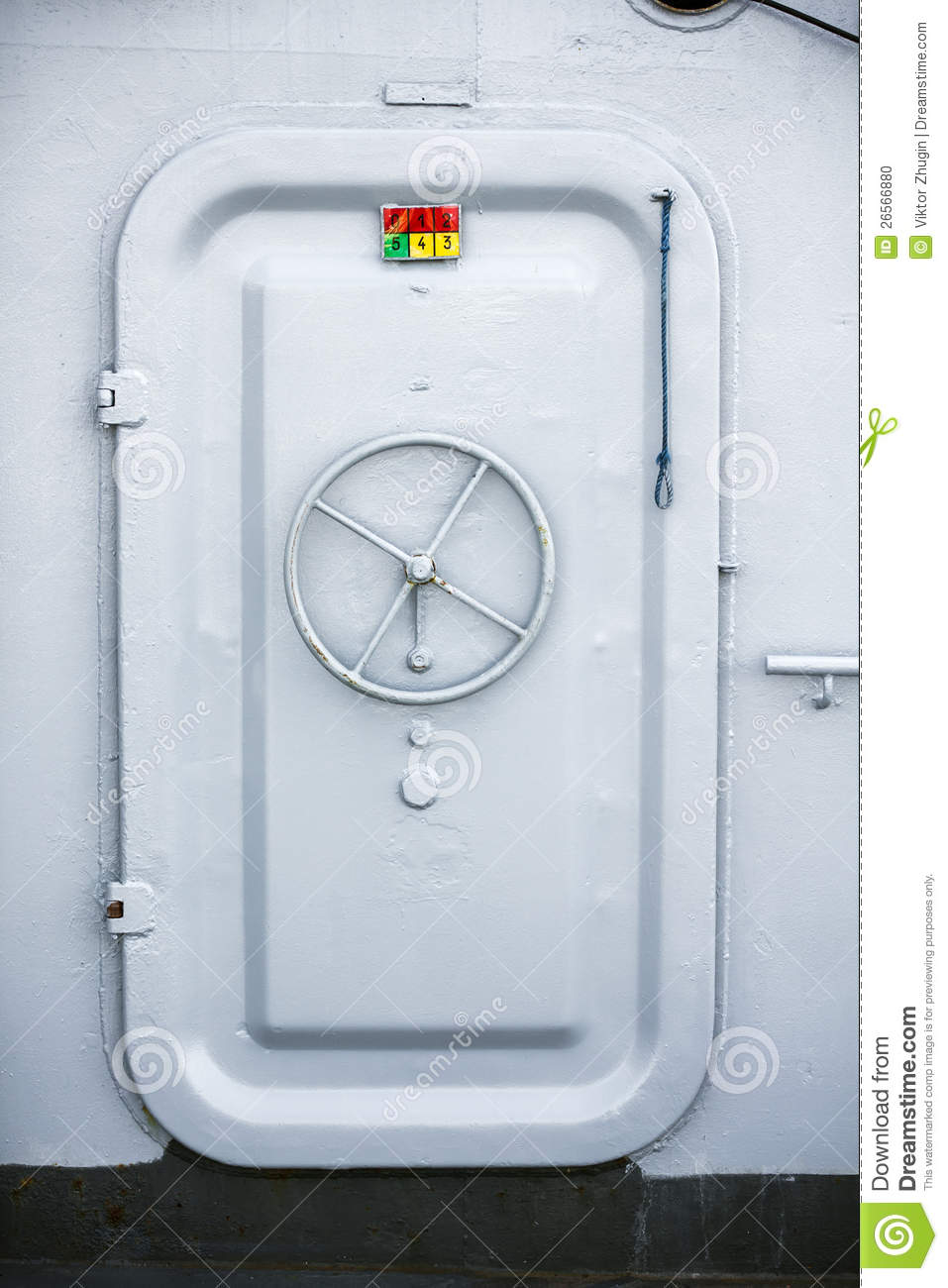 Ship Compartment Door Stock Photo - Image: 26566880