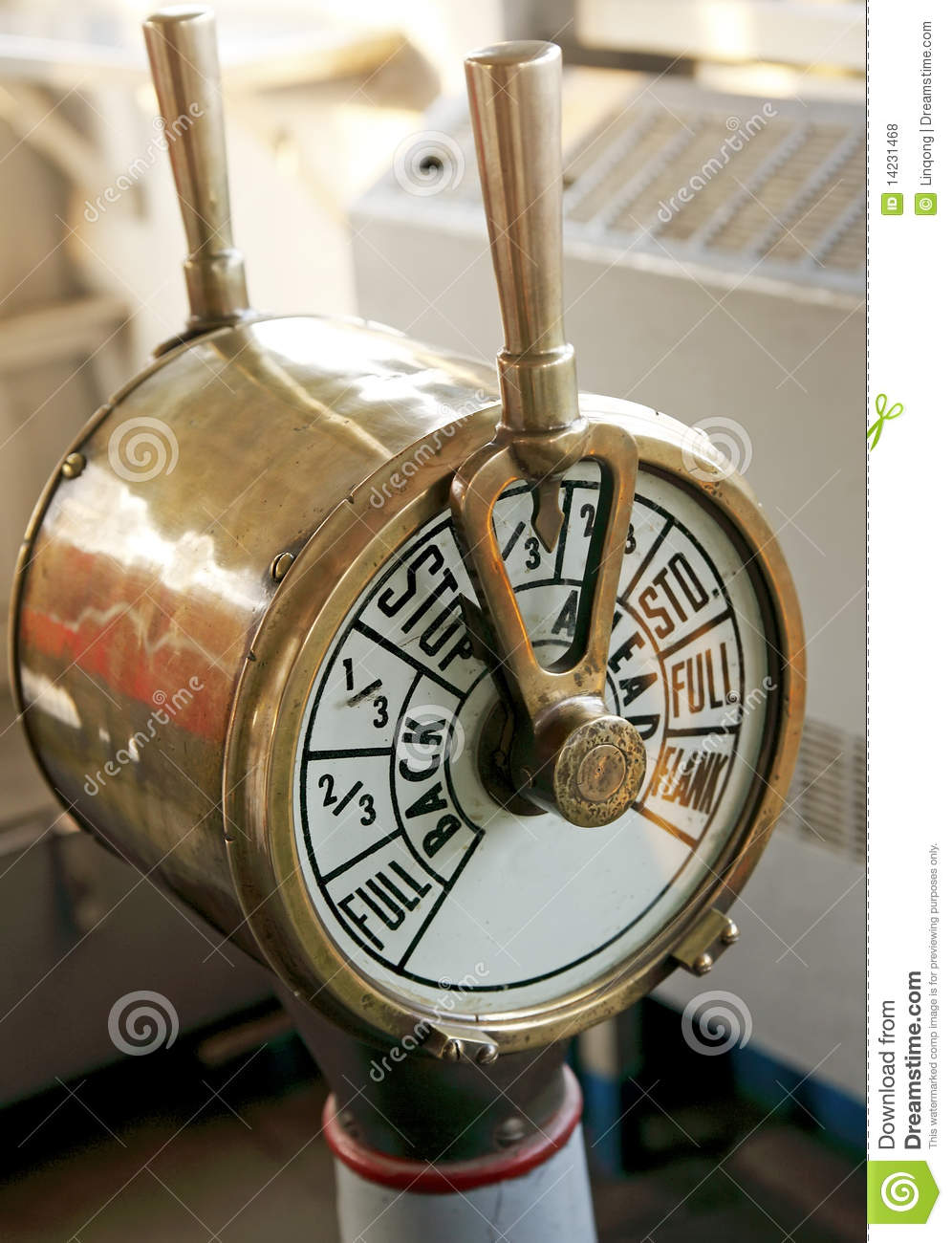 Engine Room Telegraph: Ship Engine Telegraph Stock Photo. Image Of History