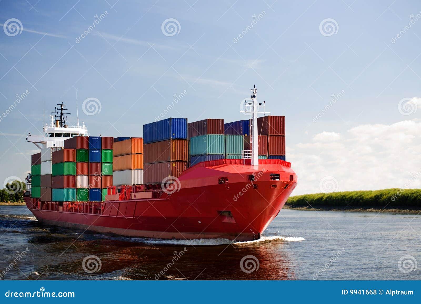 Ship för lastbehållareflod