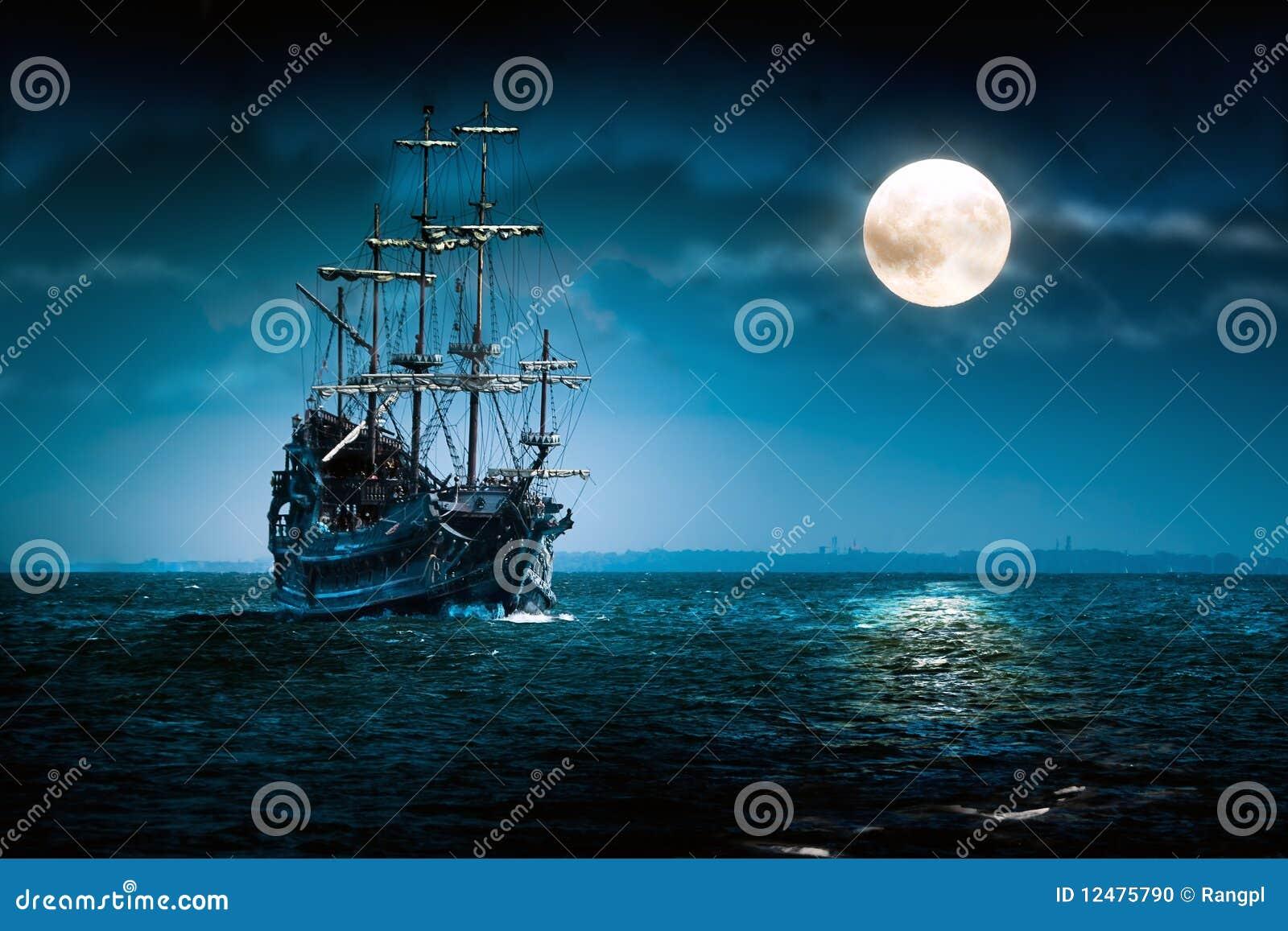 Ship för segling för dutchmanflygmoon