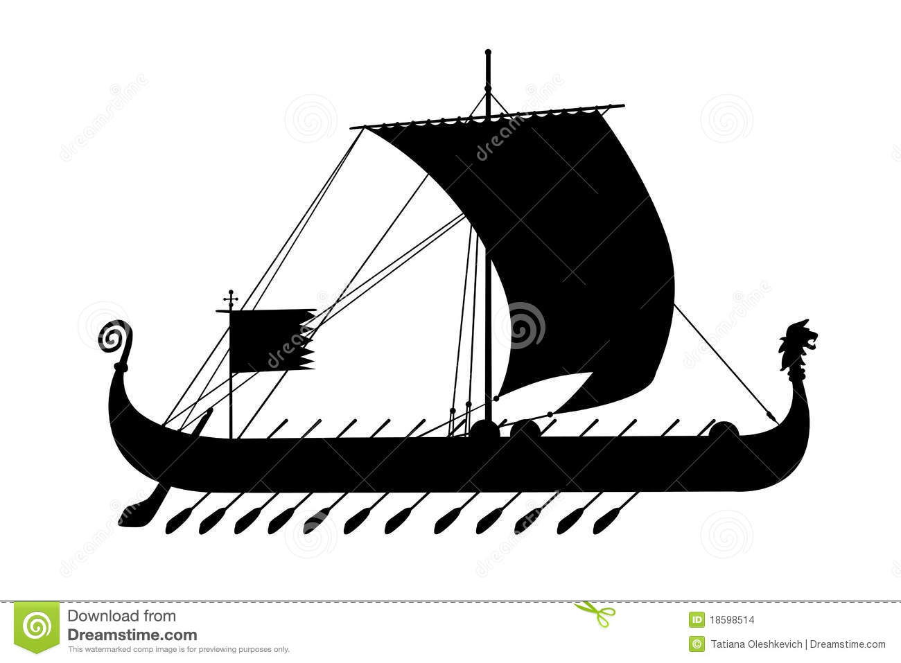Ship greece ancient black silhouette stock images image for Immagini vector