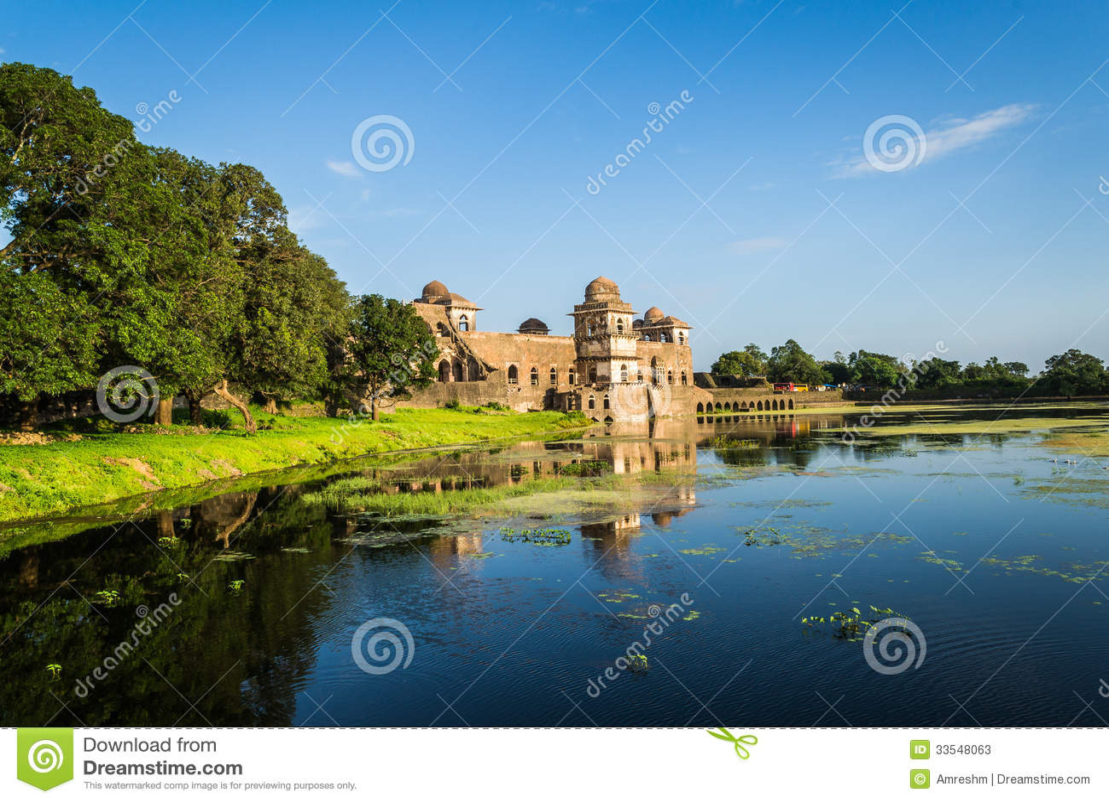 Ship Palace (Jal Mahal) At Mandu India