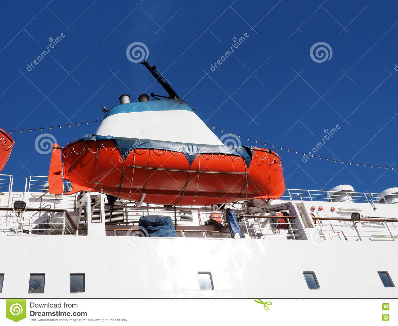 download ships funnel and a lifeboat stock image image of help marine