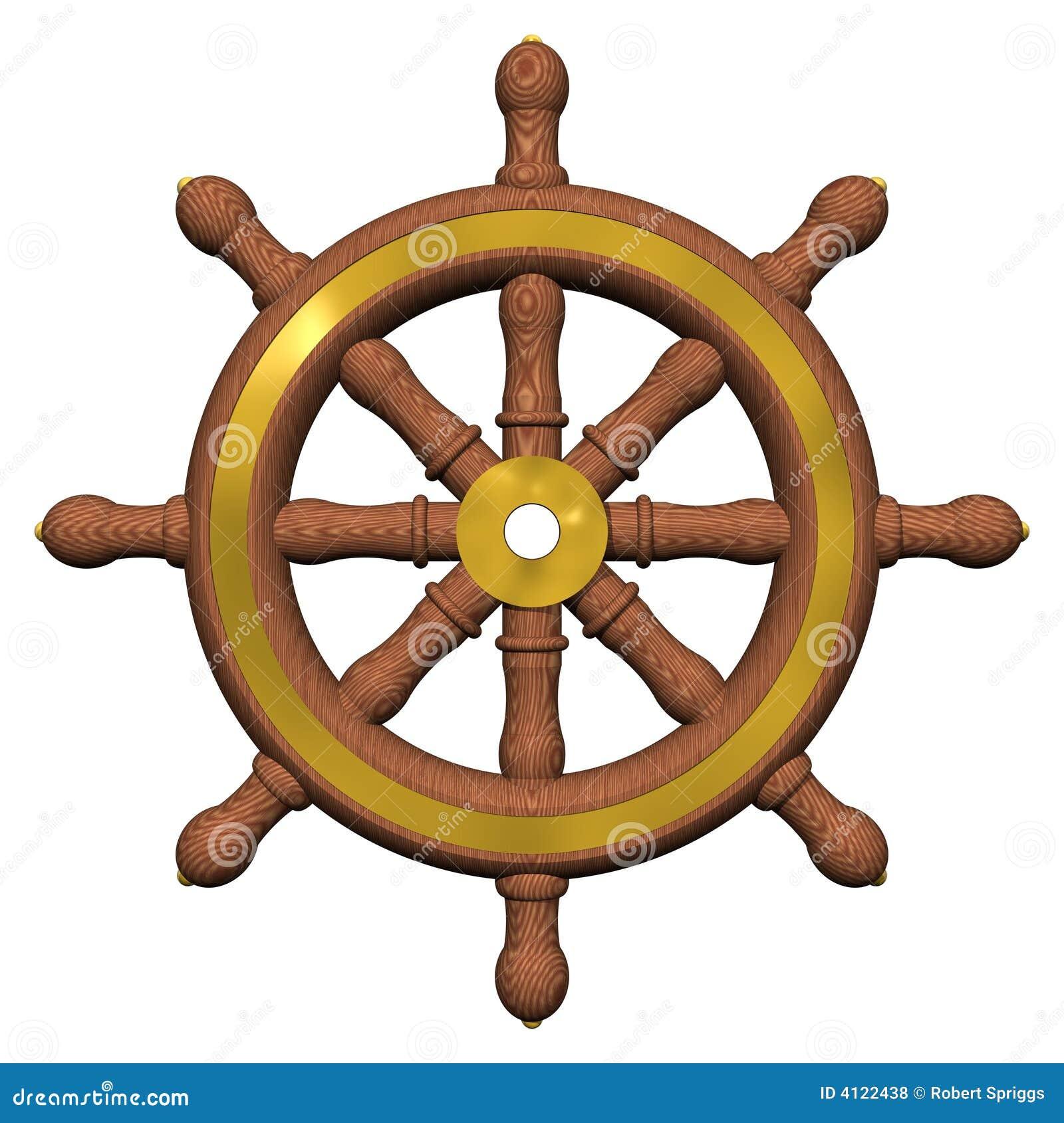 Ship's Wheel stock illustration. Image of boating ...