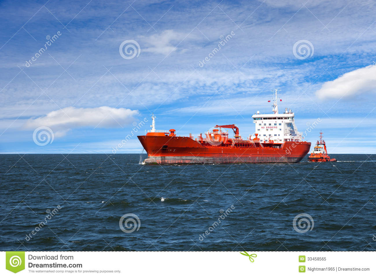 Ship At Sea Royalty Free Stock Photo - Image: 33458565
