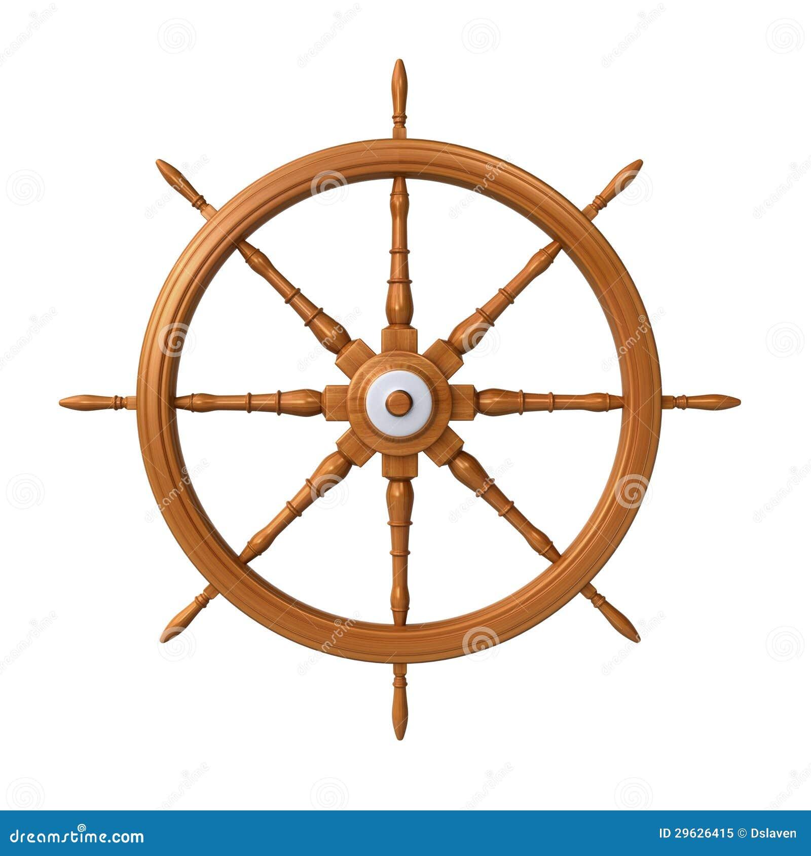 Ship steering wheel stock illustration. Illustration of ...