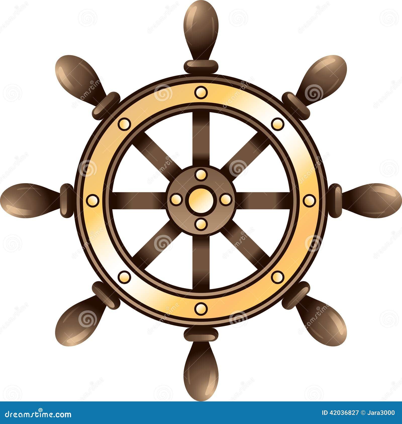d898474c7 Ship steering wheel stock vector. Illustration of ship - 42036827