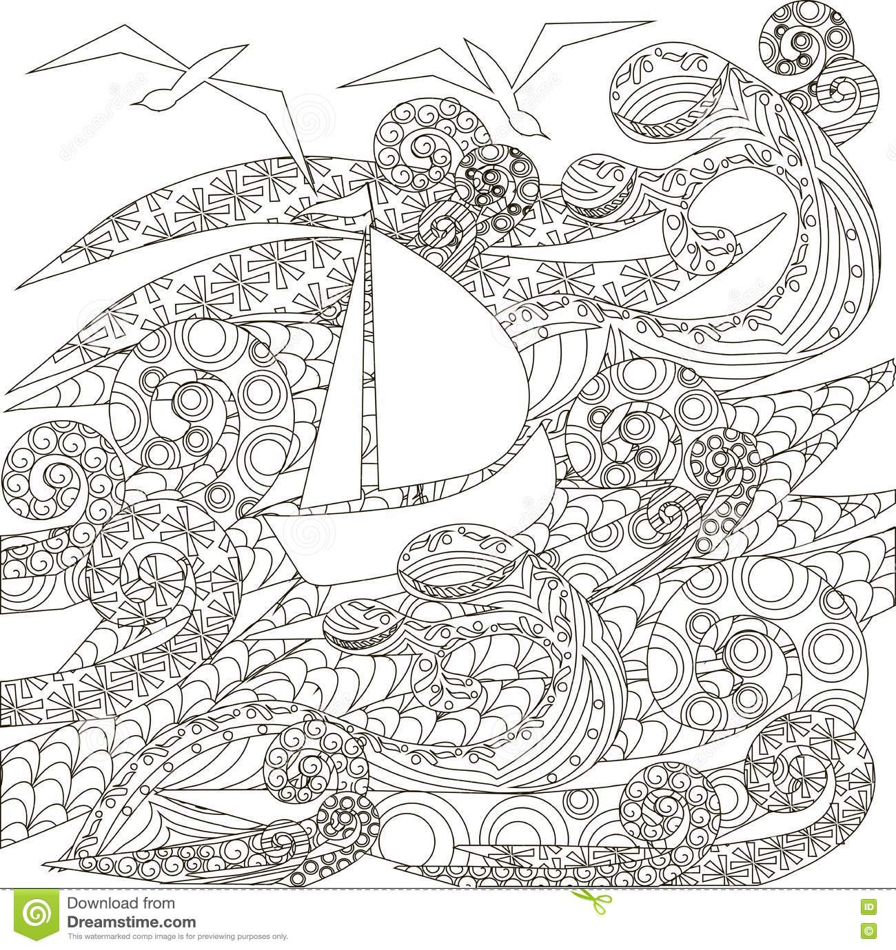ocean storm coloring pages - photo#10