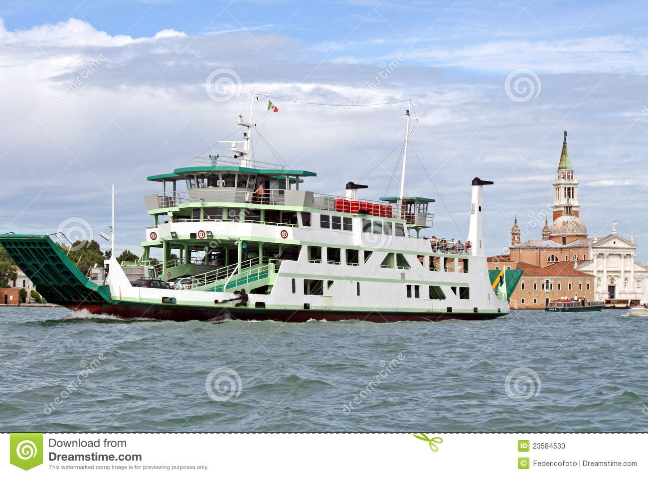 ship type ferry to transport vehicles stock photo image 23584530