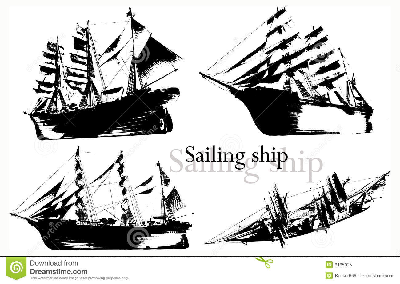 Ship vector stock vector. Image of ship, black, boat ...