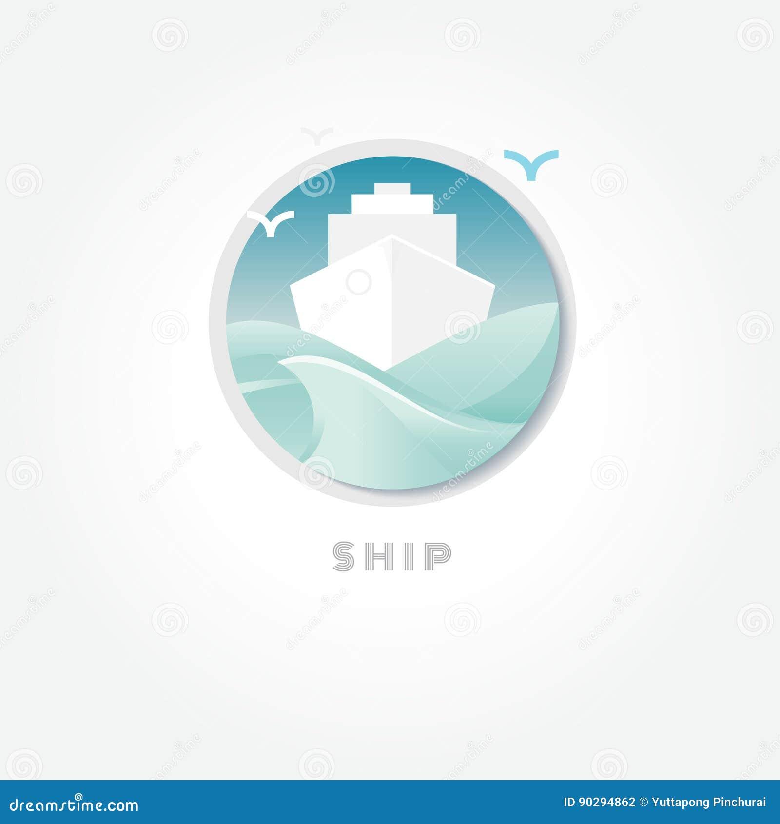 Ship water transportation symbol vector stock vector ship water transportation symbol vector buycottarizona