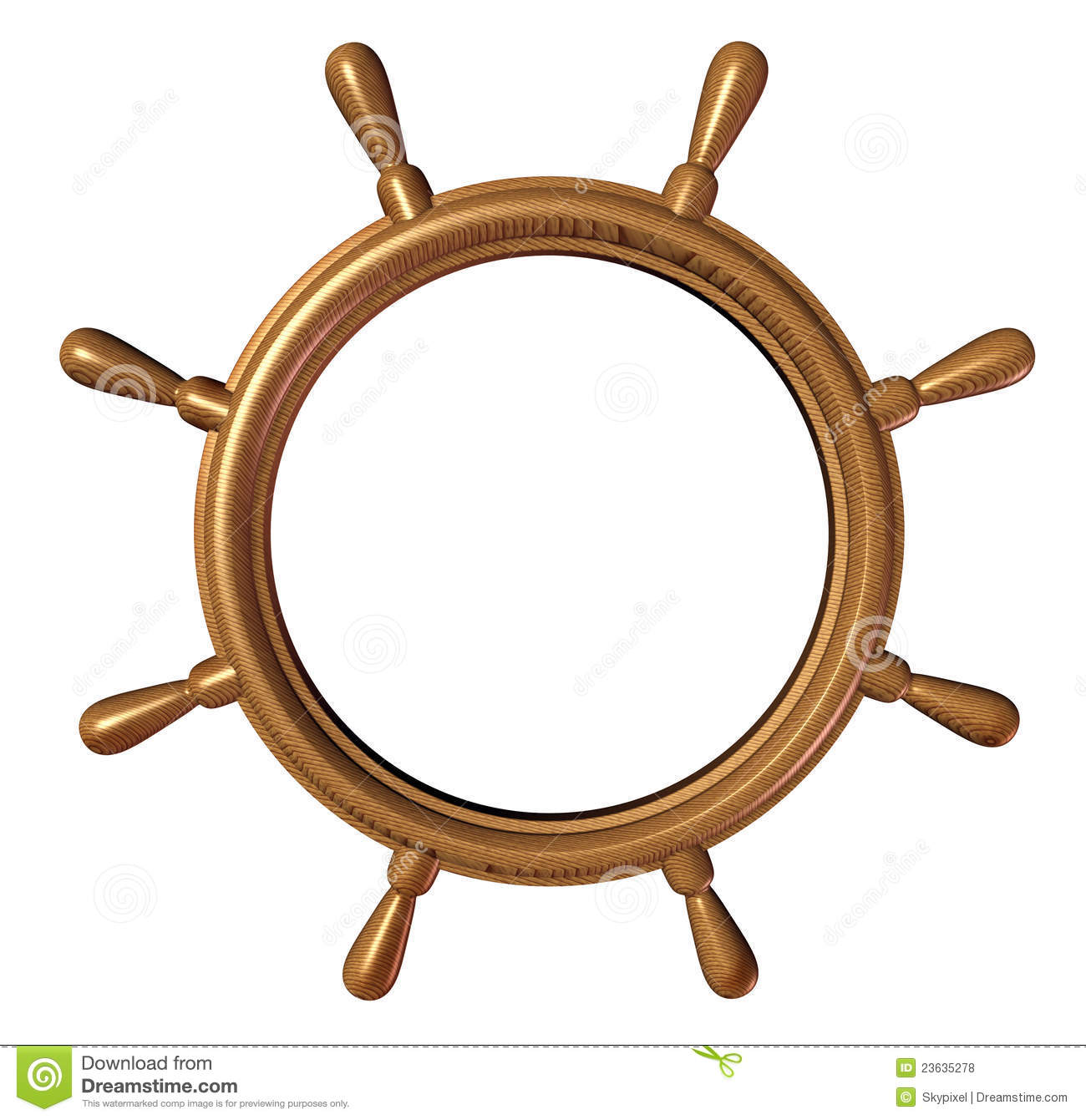 ship wheel with a blank center area boat and ship steering wheel as a ...