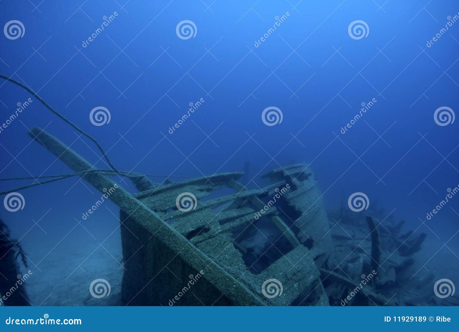Ship-Wreck antigo subaquático