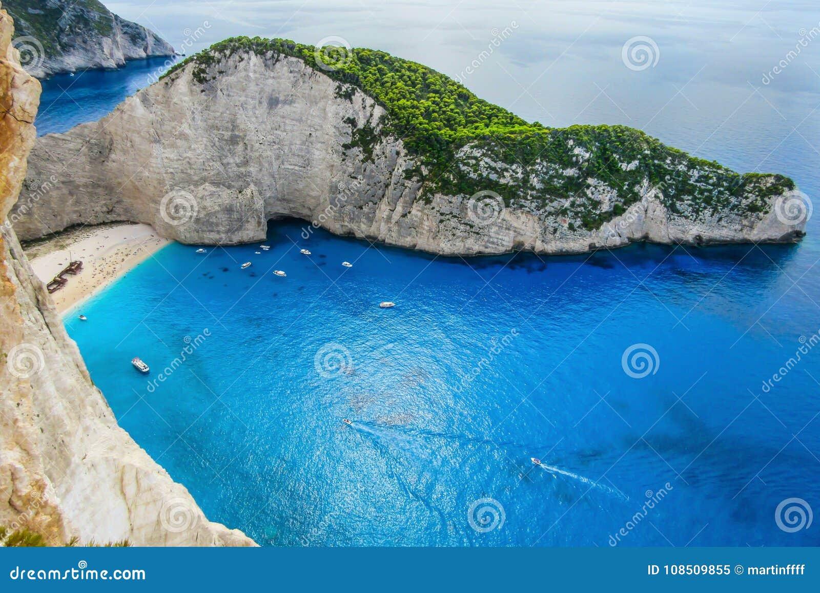 Ship wreck beach, Zakynthos island, Greece