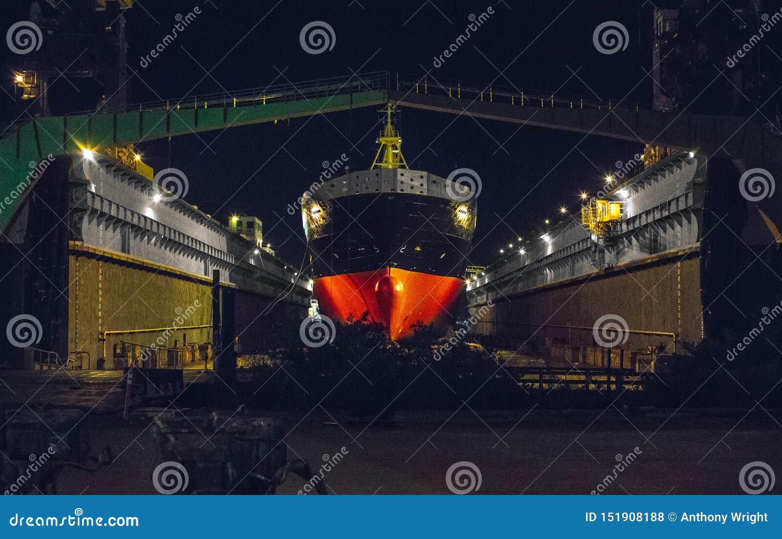 Ship in the ship yard