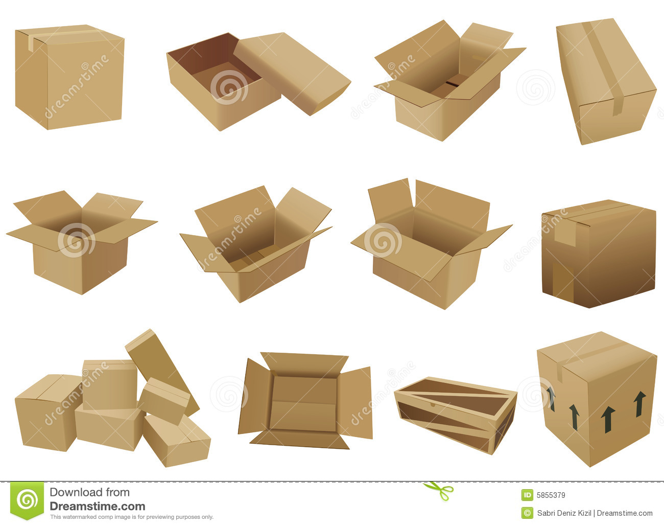 Shipping Box Vector Royalty Free Stock Images - Image: 5855379