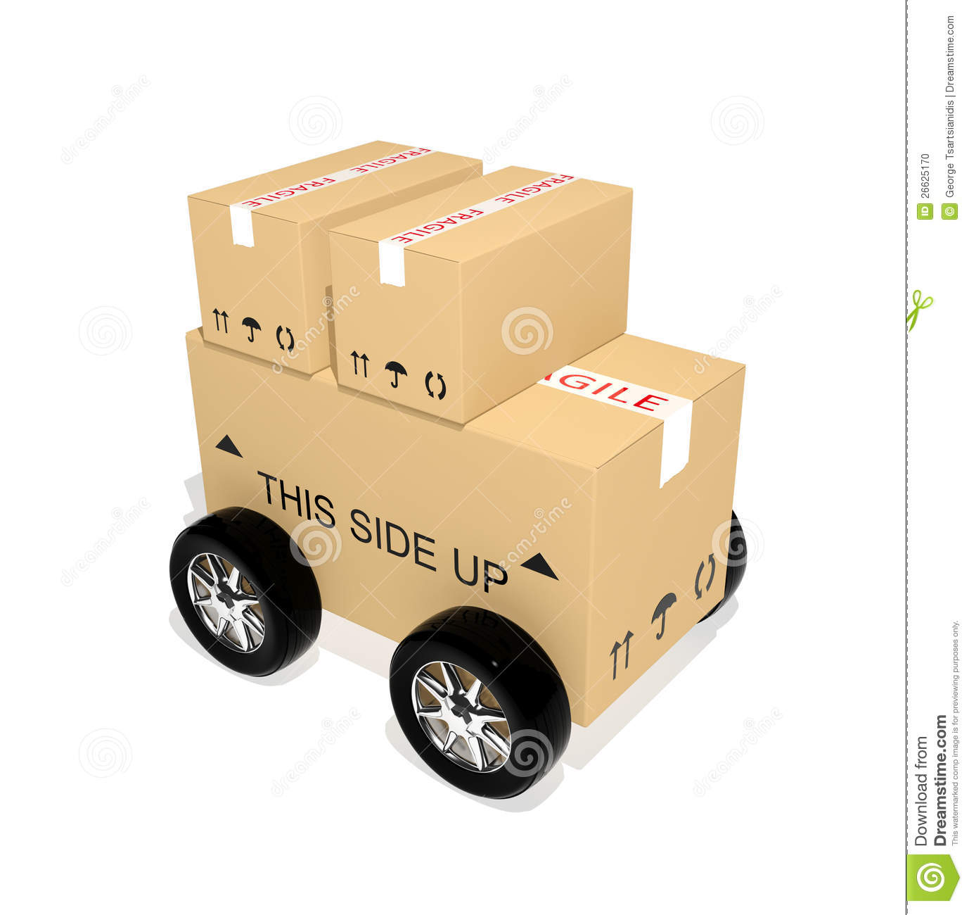 Download Shipping cardboard boxes stock illustration. Illustration of freight - 26625170