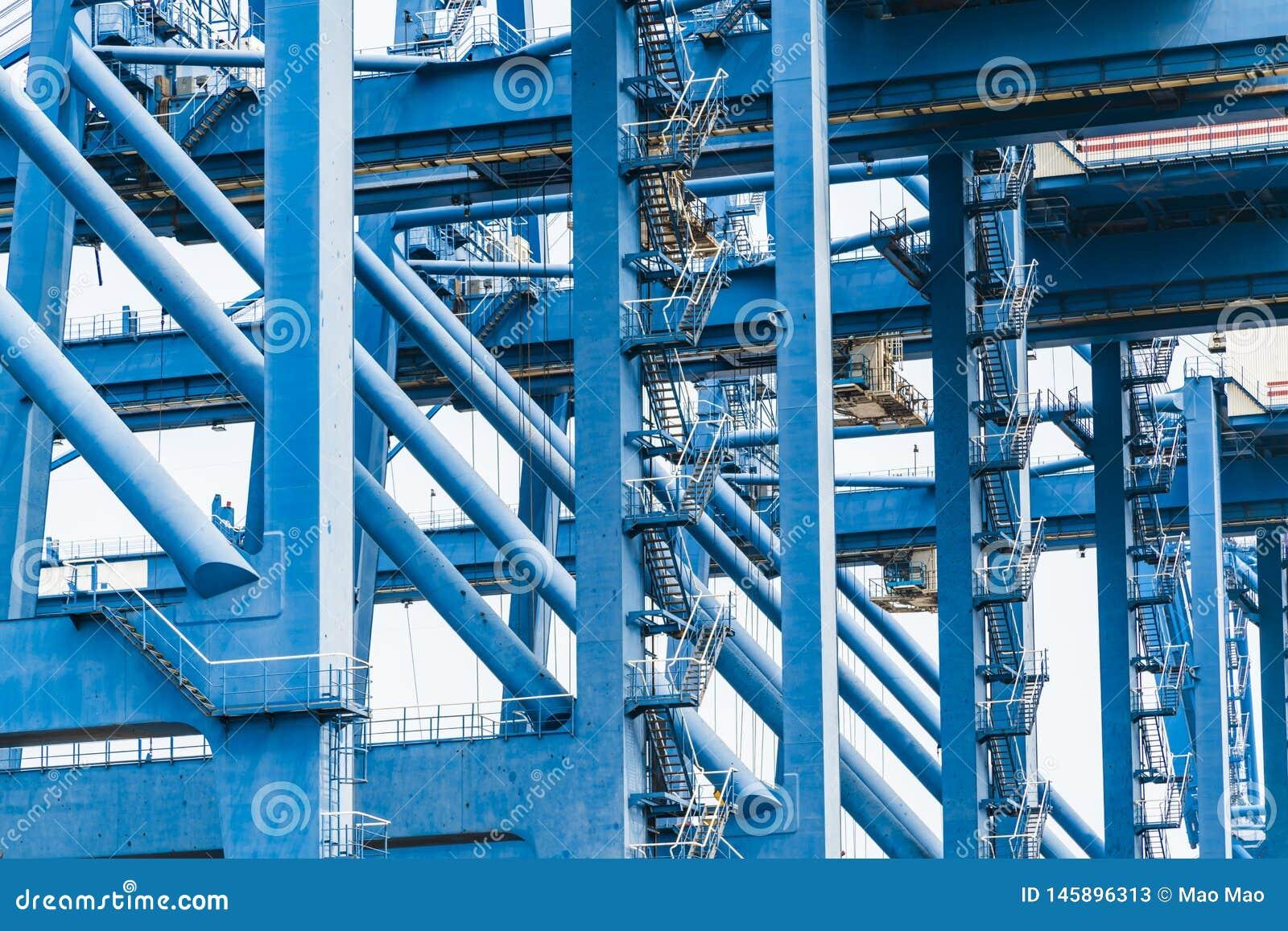 Shipping cargo to harbor by crane,tianjin,china.