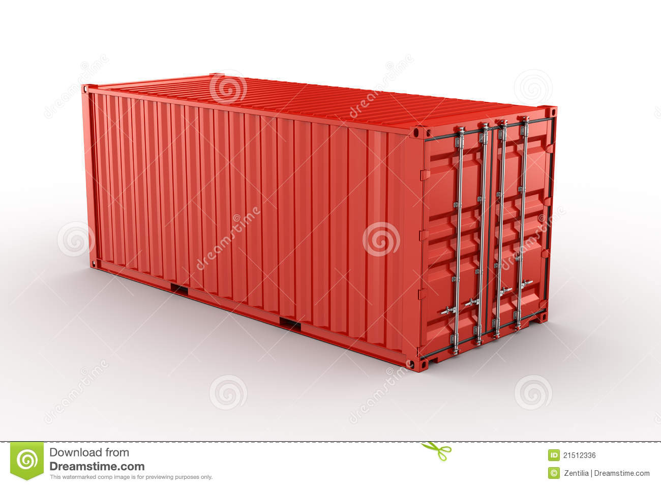 shipping container royalty free stock image image 21512336. Black Bedroom Furniture Sets. Home Design Ideas