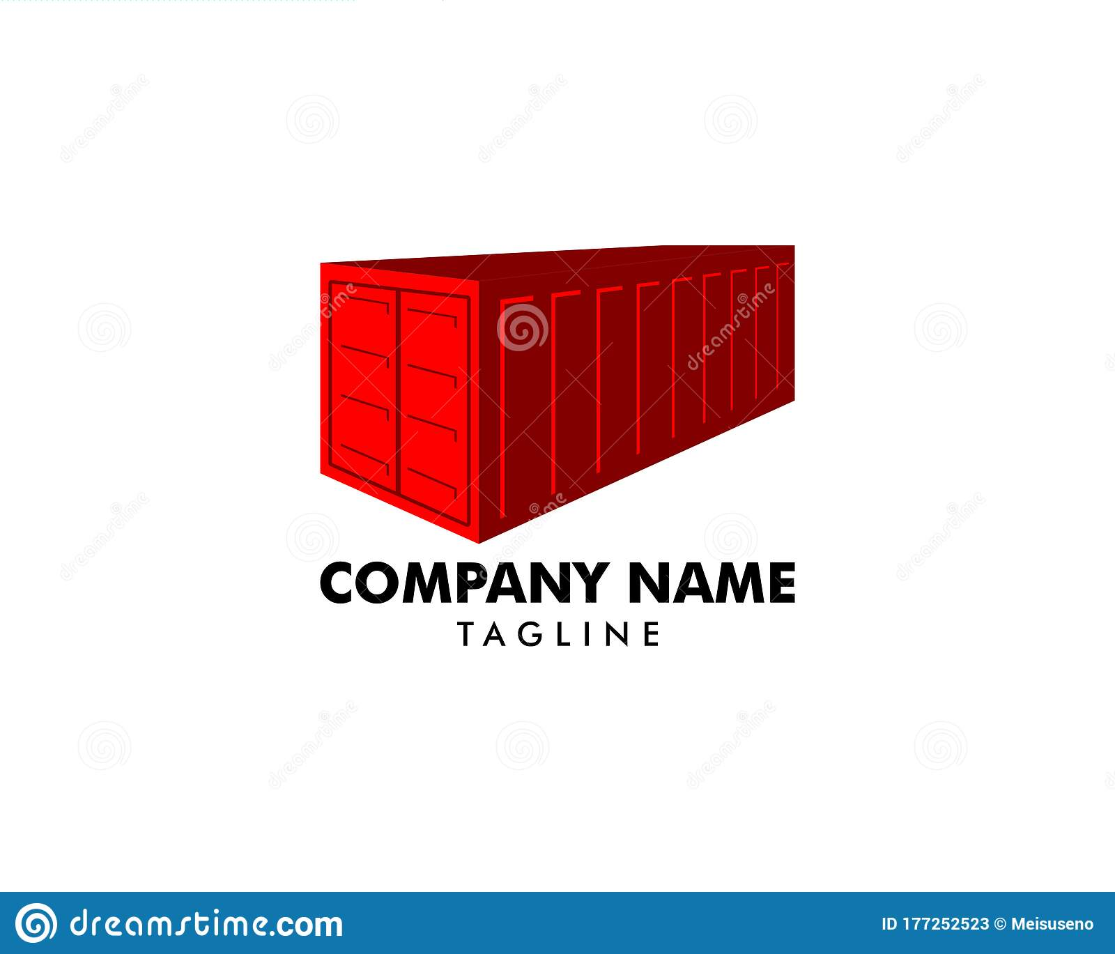 Shipping Container Box Design Logo Template Vector Illustration Stock Vector Illustration Of Concept Design 177252523