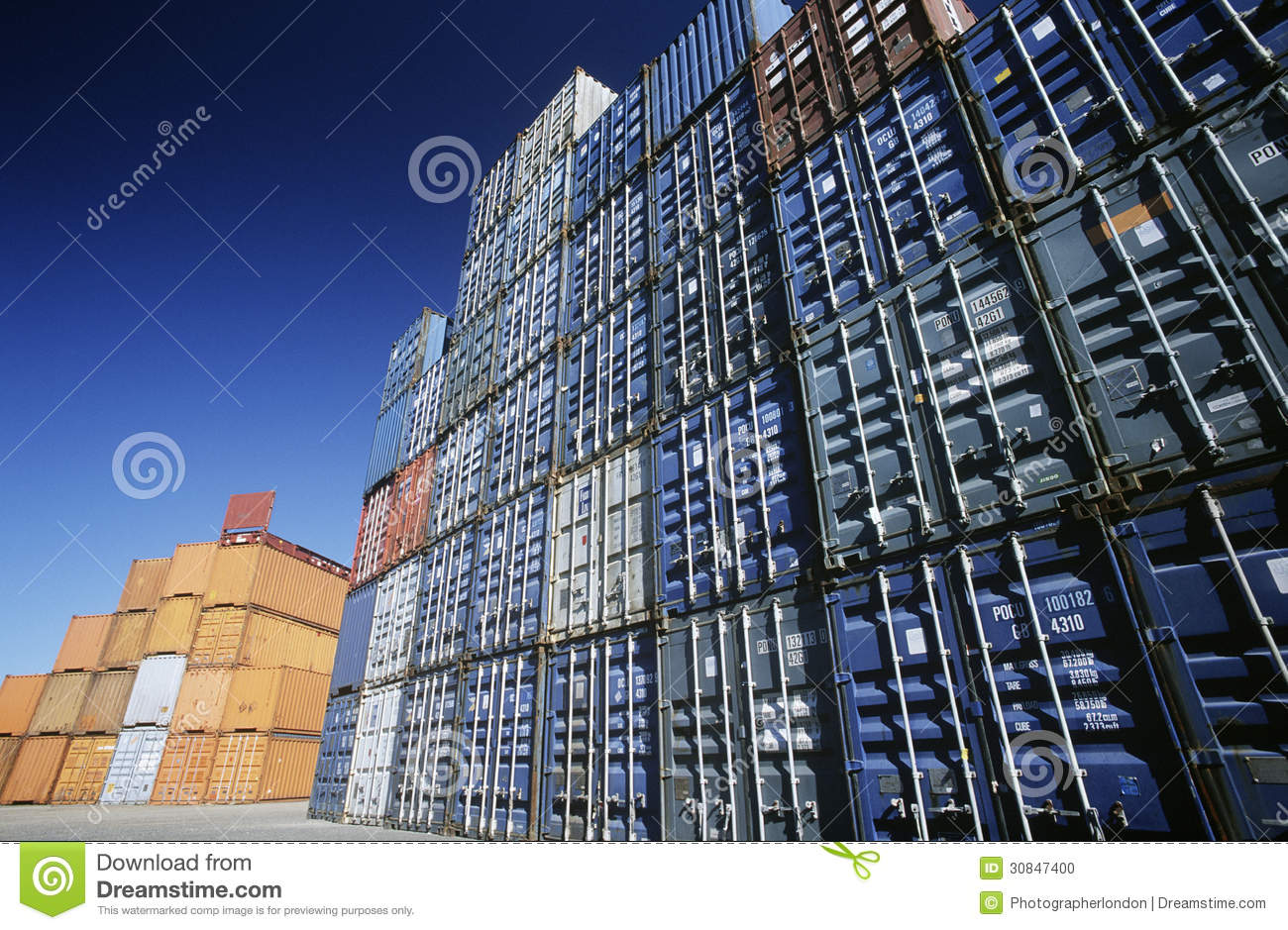 Editorial Stock Photo. Download Shipping Container In Storage Yard ...