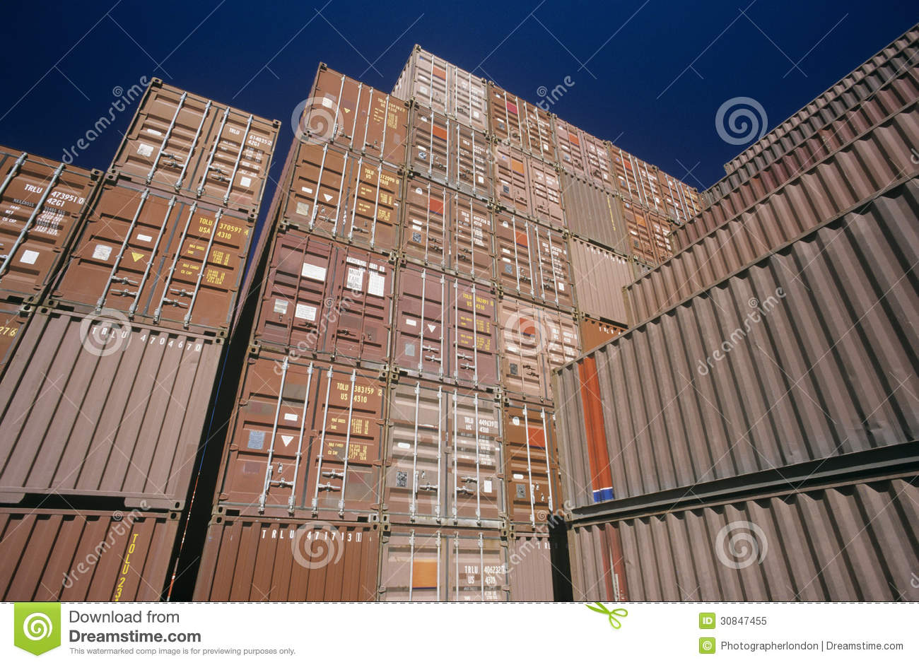 Shipping Container Storage Yard Part - 18: Editorial Stock Photo. Download Shipping Container In Storage Yard ...