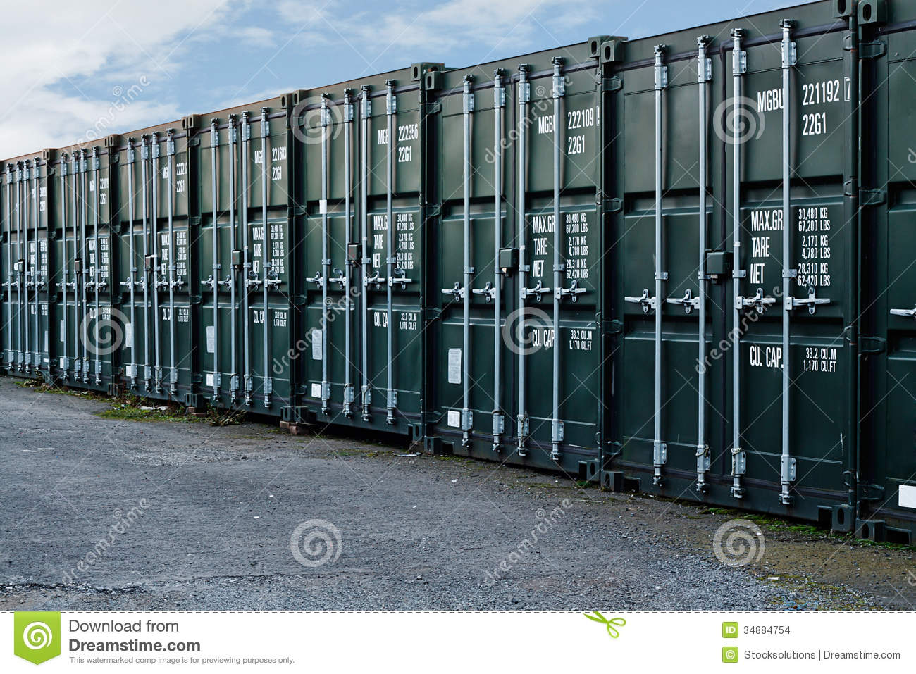 Shipping Containers Stock Images Image 34884754