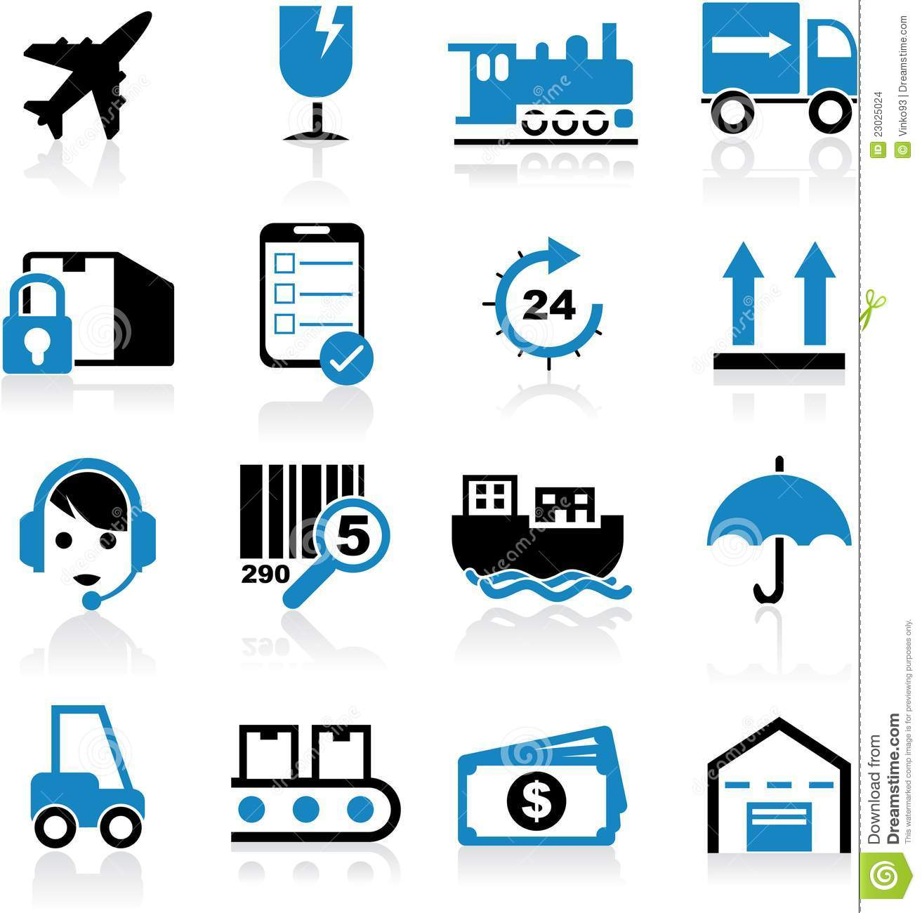 Shipping Icons Stock Images - Image: 23025024 X Arrow Money Bag