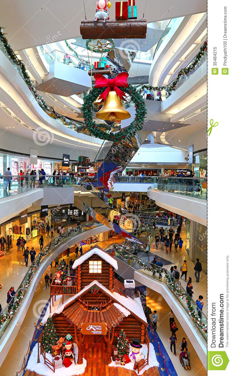 Shopping mall christmas decoration editorial image image for Decoration shopping