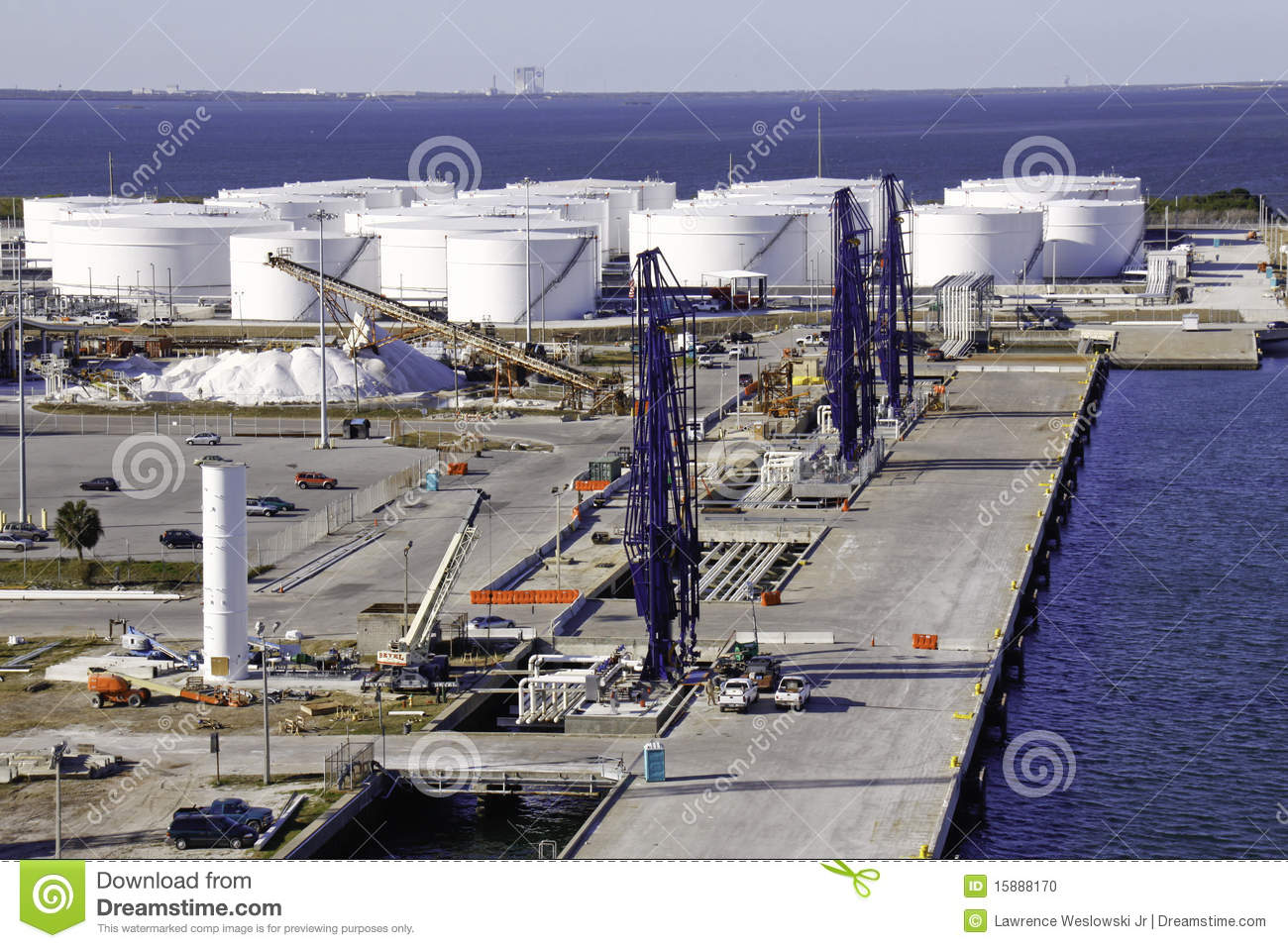 download shipping port fuel tank farm and loading cranes stock photo image of terminal